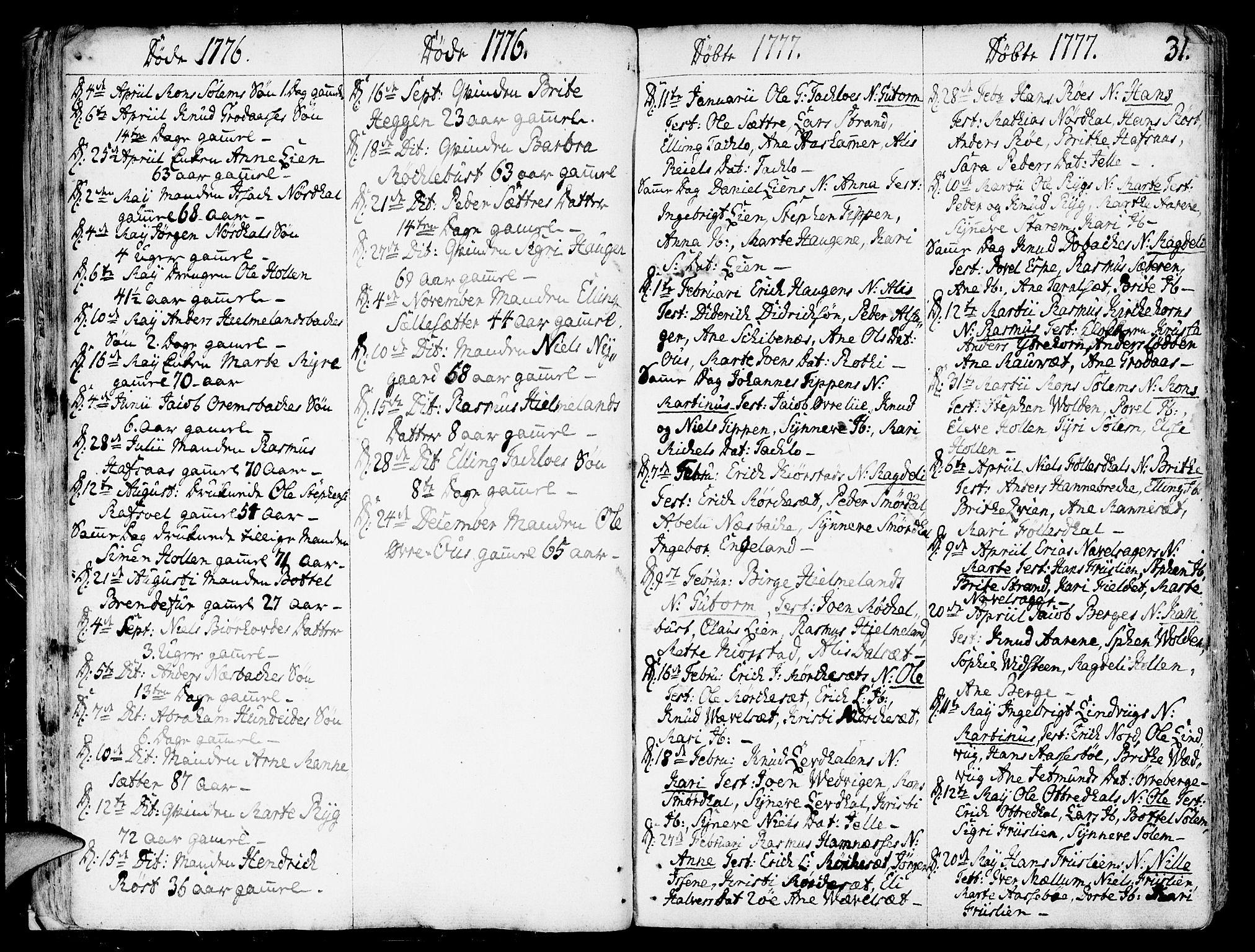SAB, Eid Sokneprestembete, H/Haa: Ministerialbok nr. A 3, 1770-1805, s. 31