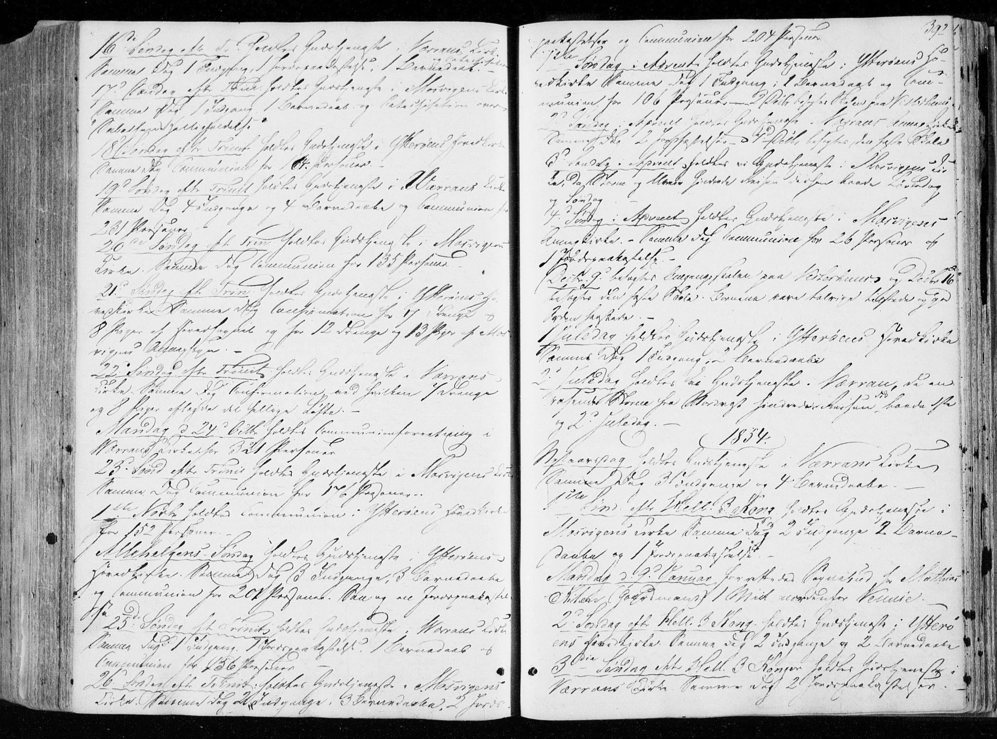 SAT, Ministerialprotokoller, klokkerbøker og fødselsregistre - Nord-Trøndelag, 722/L0218: Ministerialbok nr. 722A05, 1843-1868, s. 392
