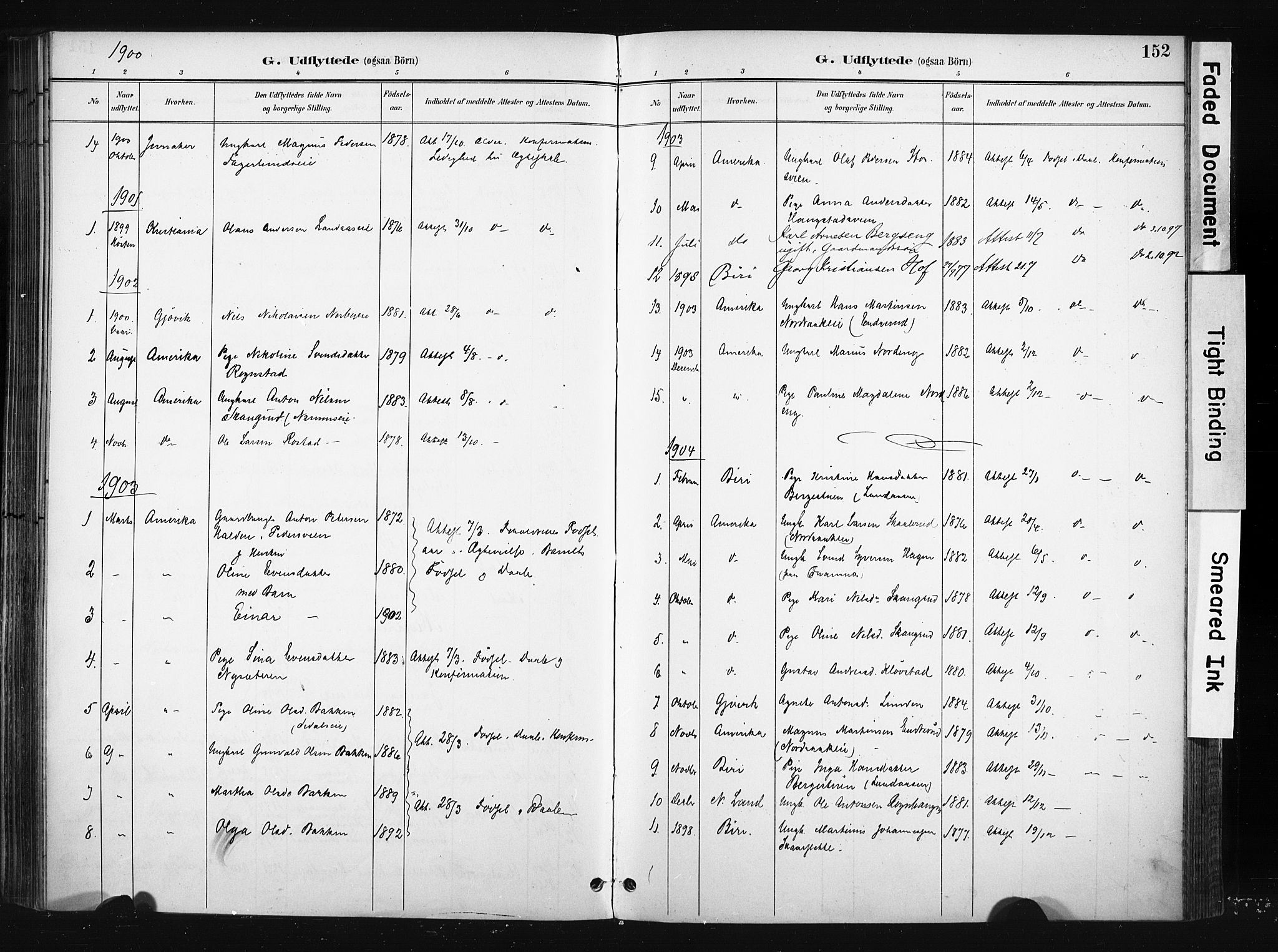 SAH, Søndre Land prestekontor, K/L0004: Ministerialbok nr. 4, 1895-1904, s. 152