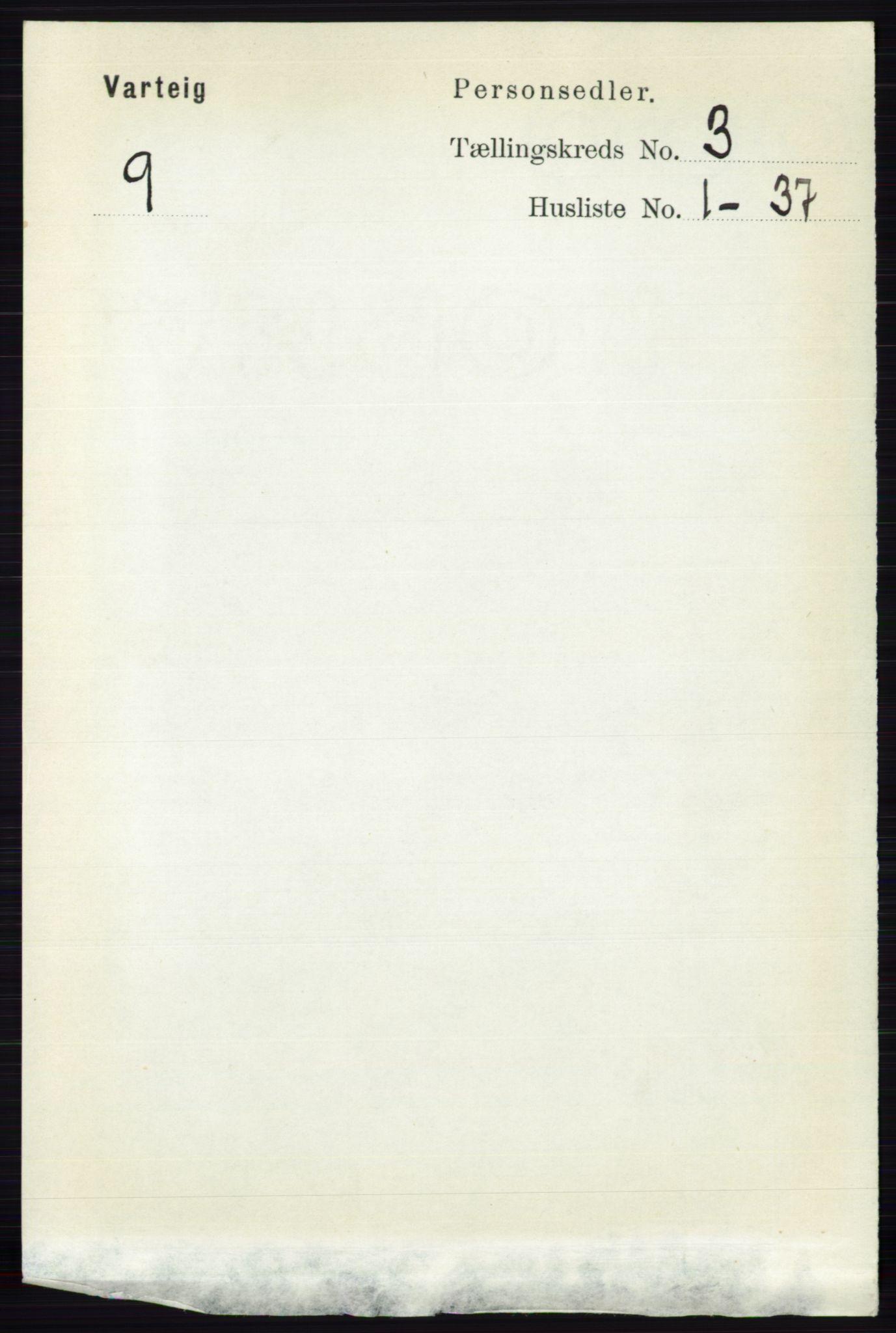 RA, Folketelling 1891 for 0114 Varteig herred, 1891, s. 1153