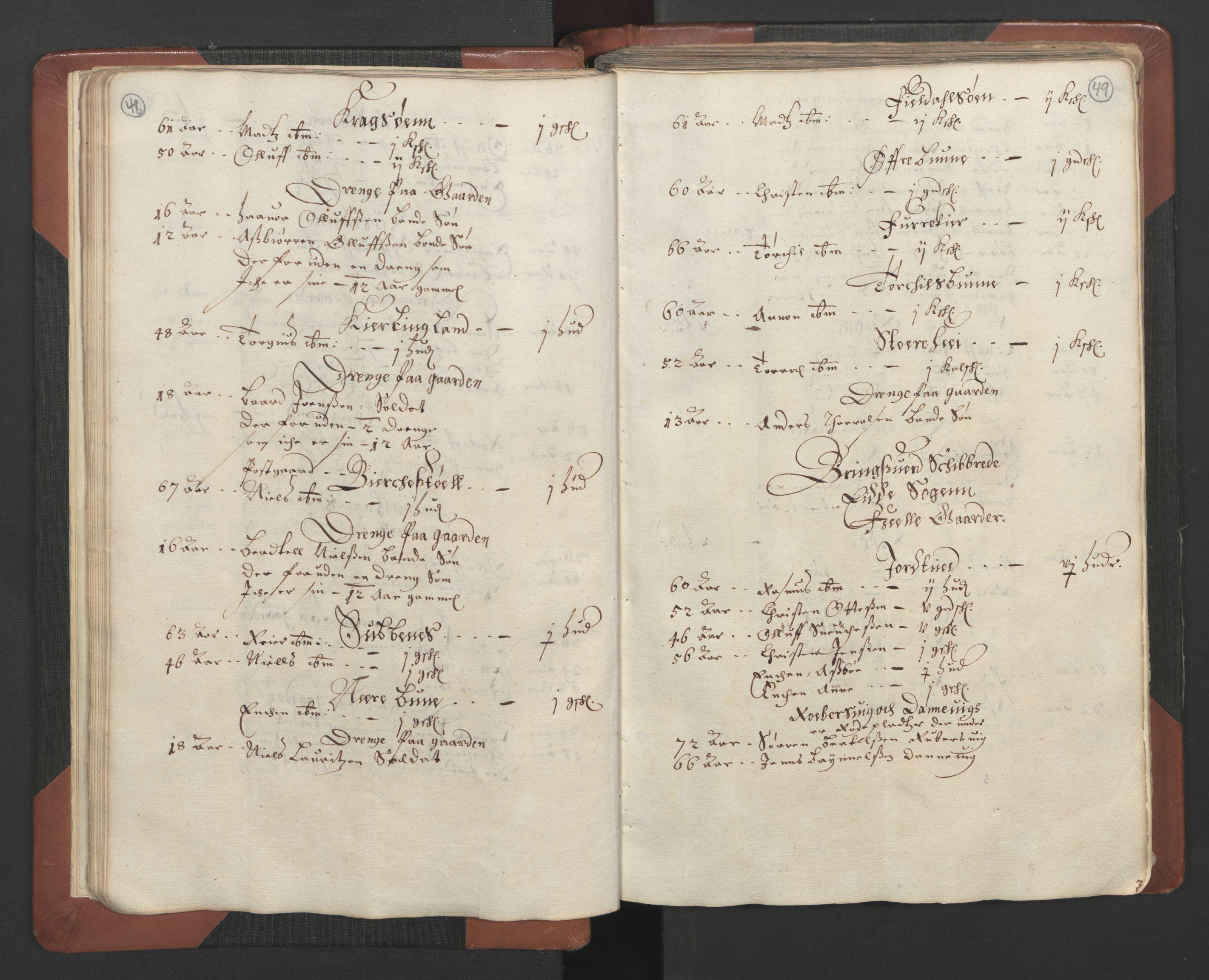 RA, Fogdenes og sorenskrivernes manntall 1664-1666, nr. 7: Nedenes fogderi, 1664-1666, s. 48-49
