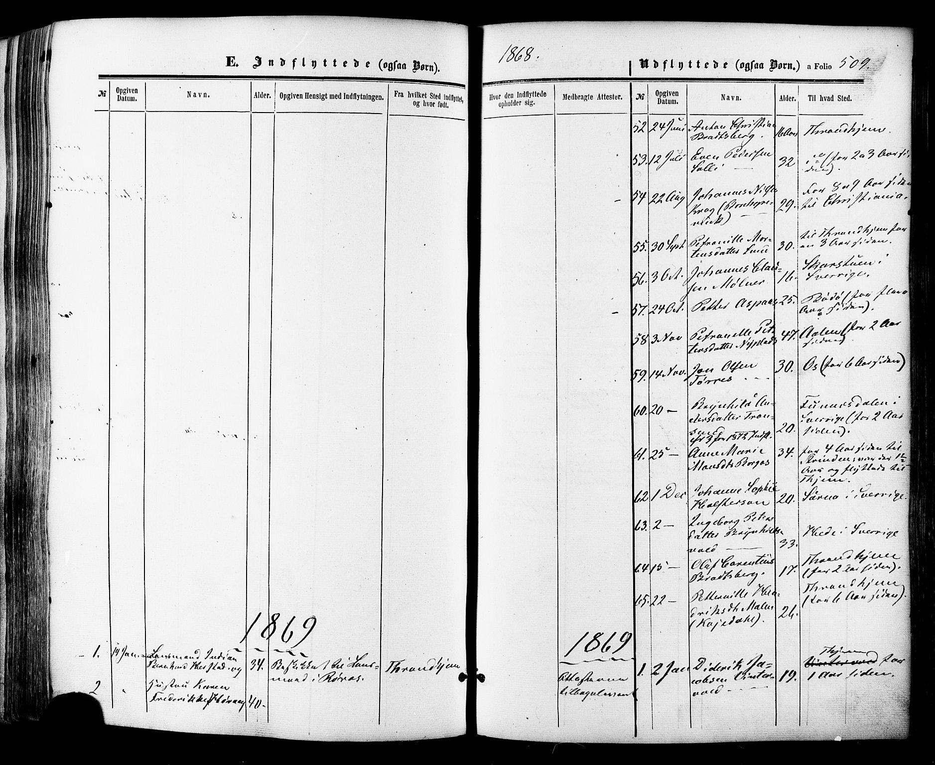 SAT, Ministerialprotokoller, klokkerbøker og fødselsregistre - Sør-Trøndelag, 681/L0932: Ministerialbok nr. 681A10, 1860-1878, s. 509