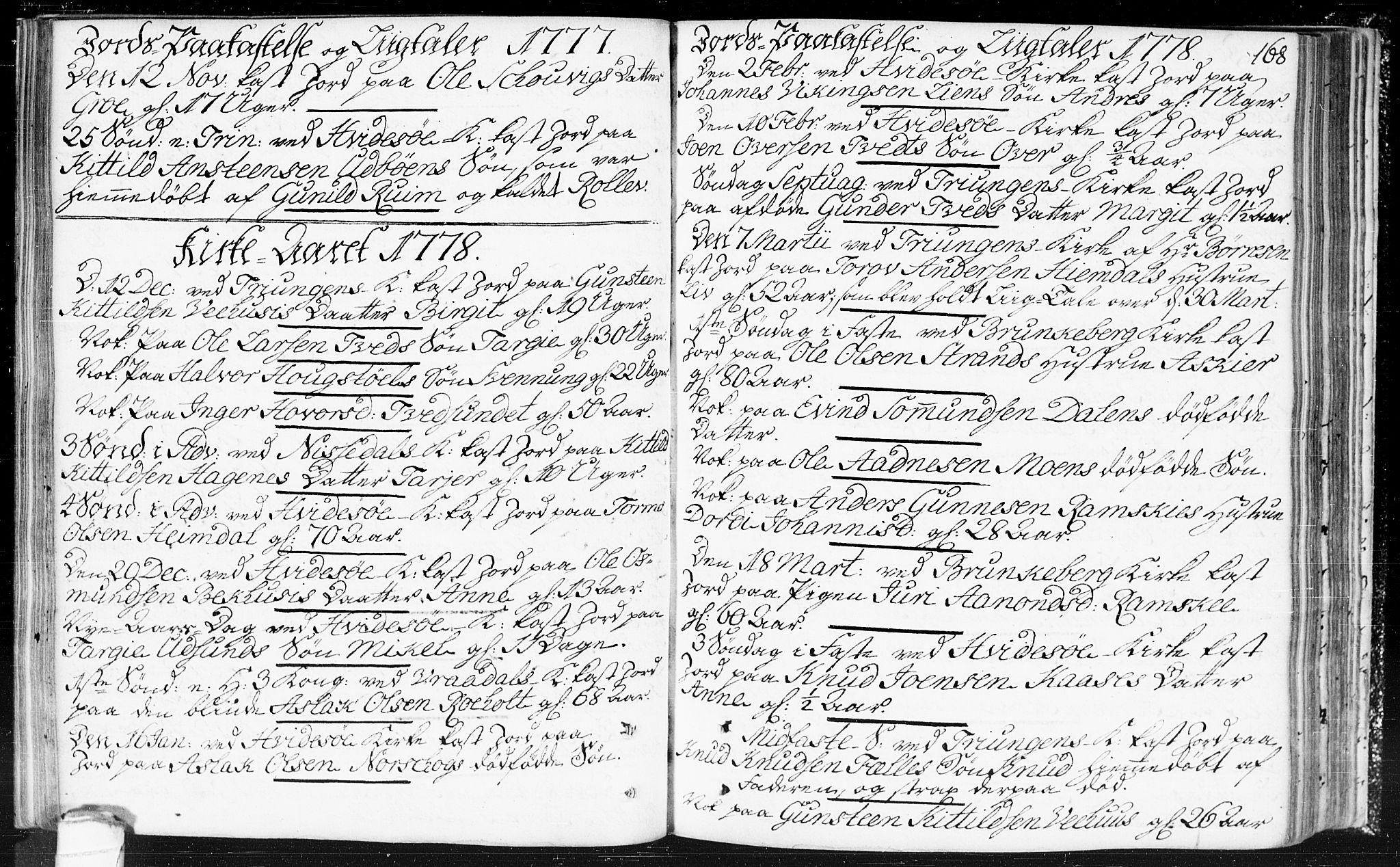 SAKO, Kviteseid kirkebøker, F/Fa/L0002: Ministerialbok nr. I 2, 1773-1786, s. 168