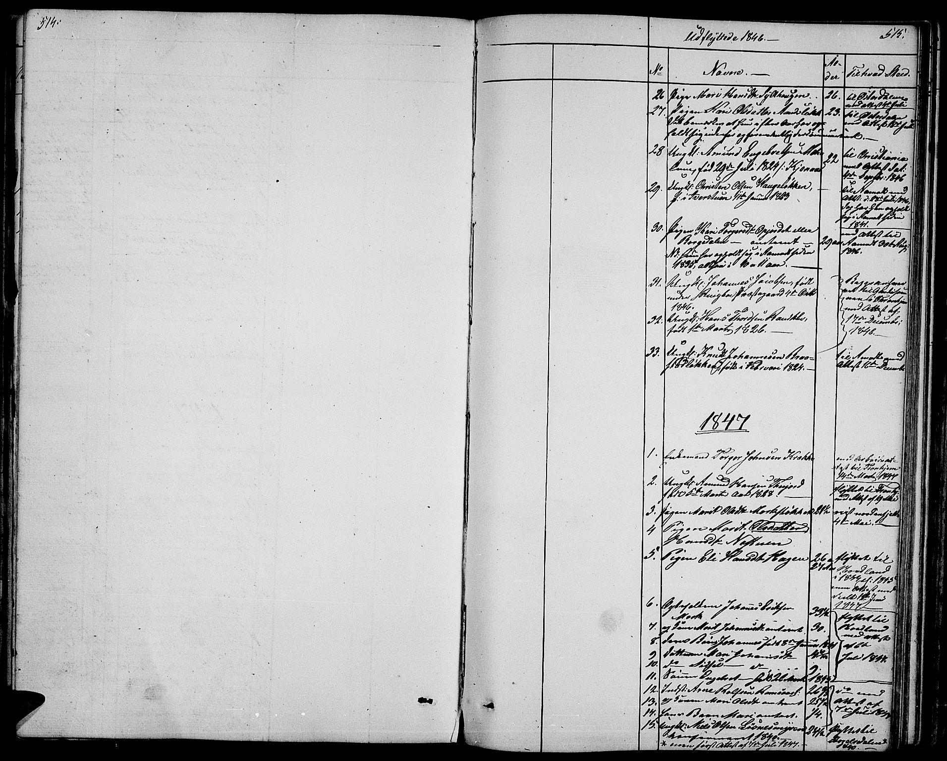 SAH, Ringebu prestekontor, Klokkerbok nr. 2, 1839-1853, s. 514-515