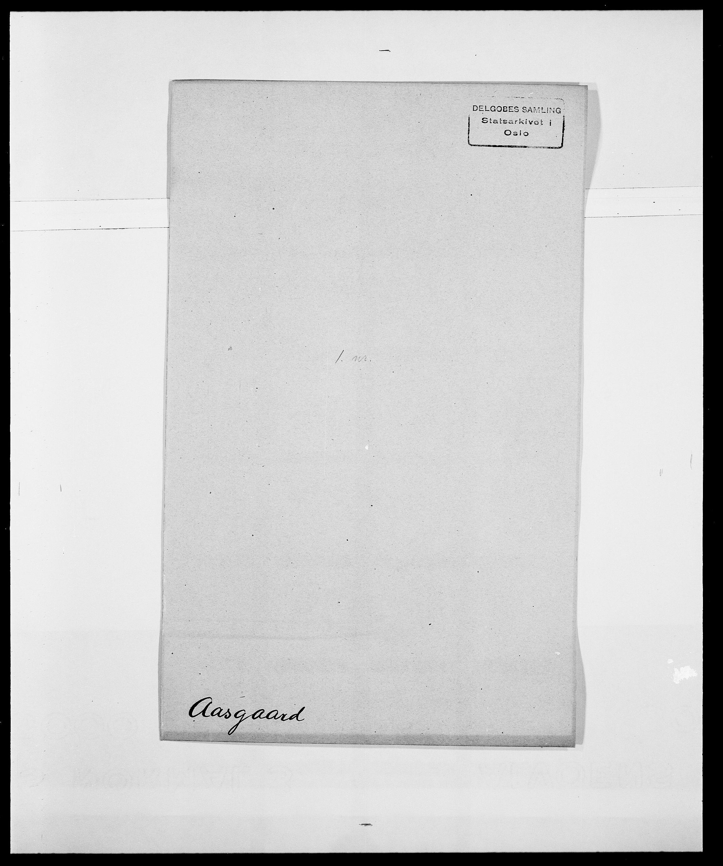 SAO, Delgobe, Charles Antoine - samling, D/Da/L0001: Aabye - Angerman, s. 158