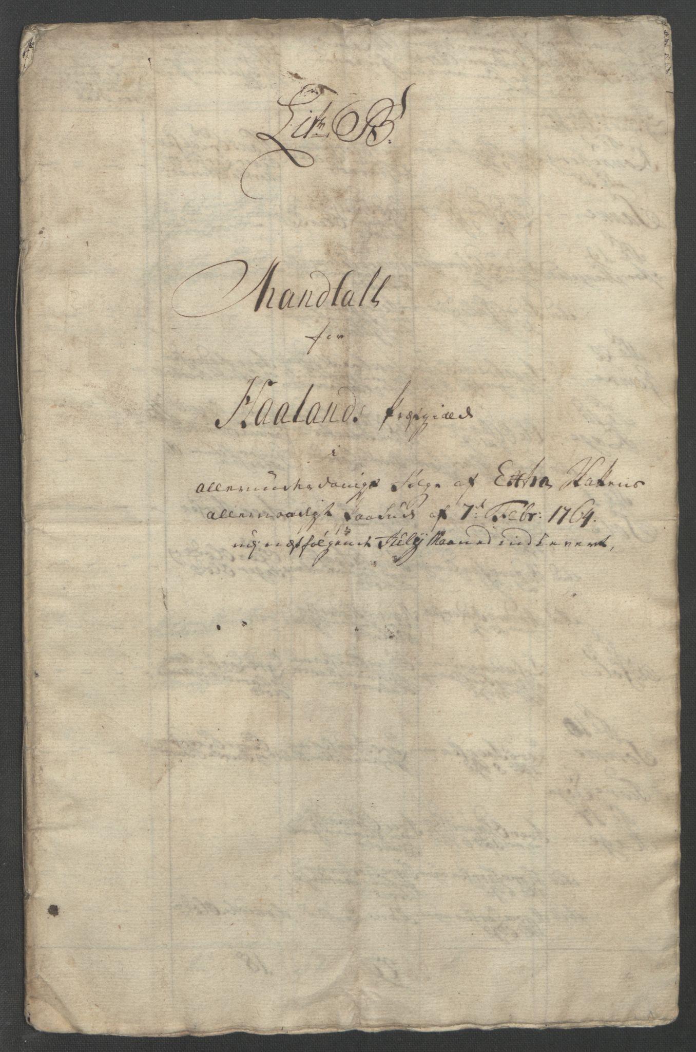 RA, Rentekammeret inntil 1814, Reviderte regnskaper, Fogderegnskap, R46/L2835: Ekstraskatten Jæren og Dalane, 1762-1764, s. 178