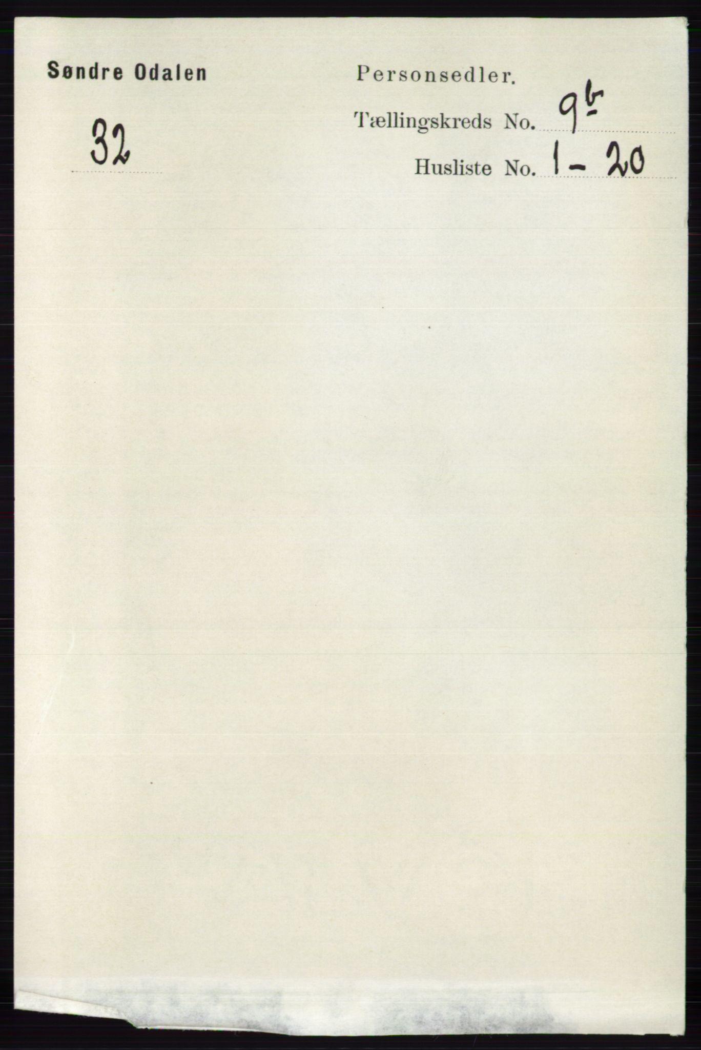 RA, Folketelling 1891 for 0419 Sør-Odal herred, 1891, s. 4138