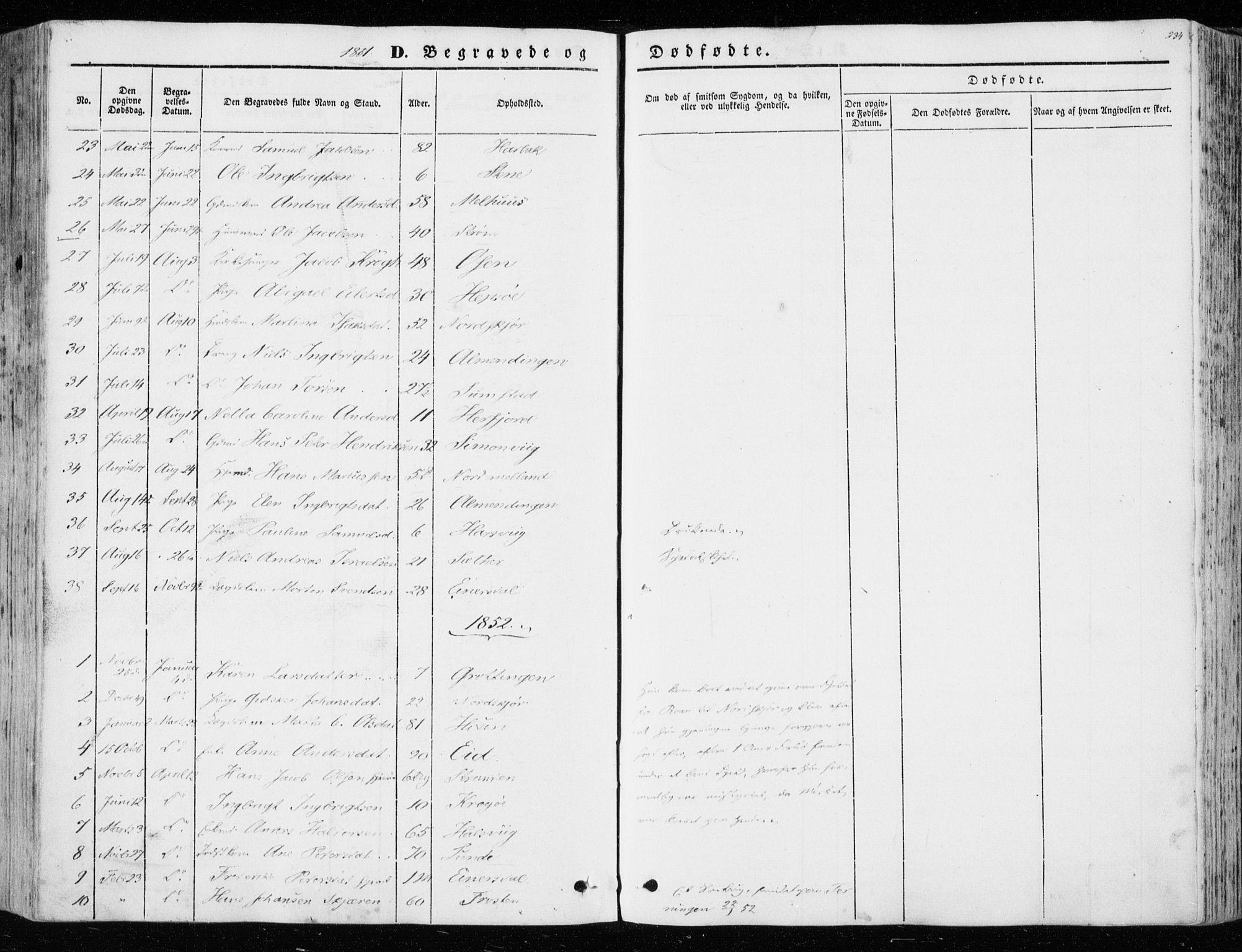 SAT, Ministerialprotokoller, klokkerbøker og fødselsregistre - Sør-Trøndelag, 657/L0704: Ministerialbok nr. 657A05, 1846-1857, s. 234