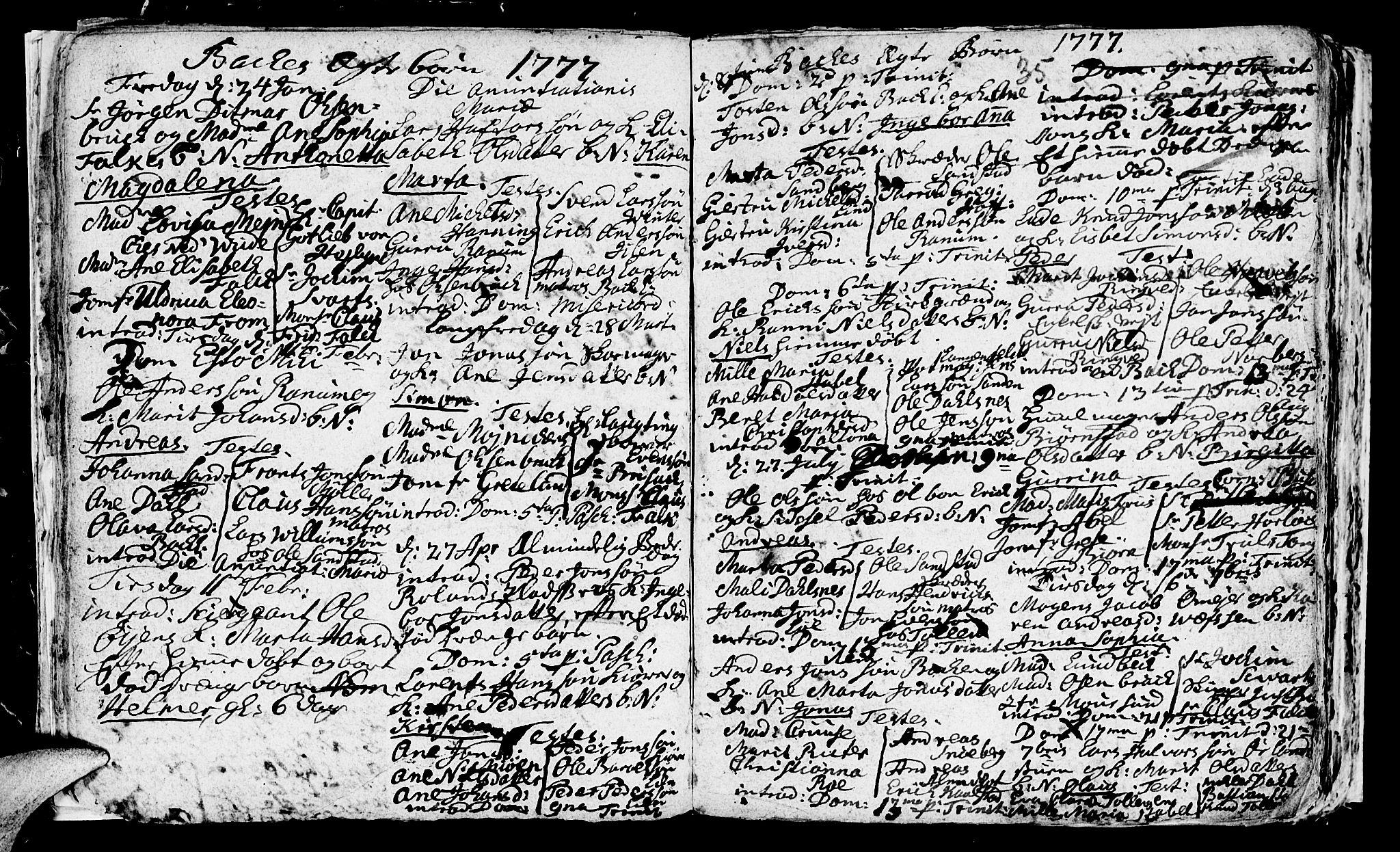 SAT, Ministerialprotokoller, klokkerbøker og fødselsregistre - Sør-Trøndelag, 604/L0218: Klokkerbok nr. 604C01, 1754-1819, s. 35