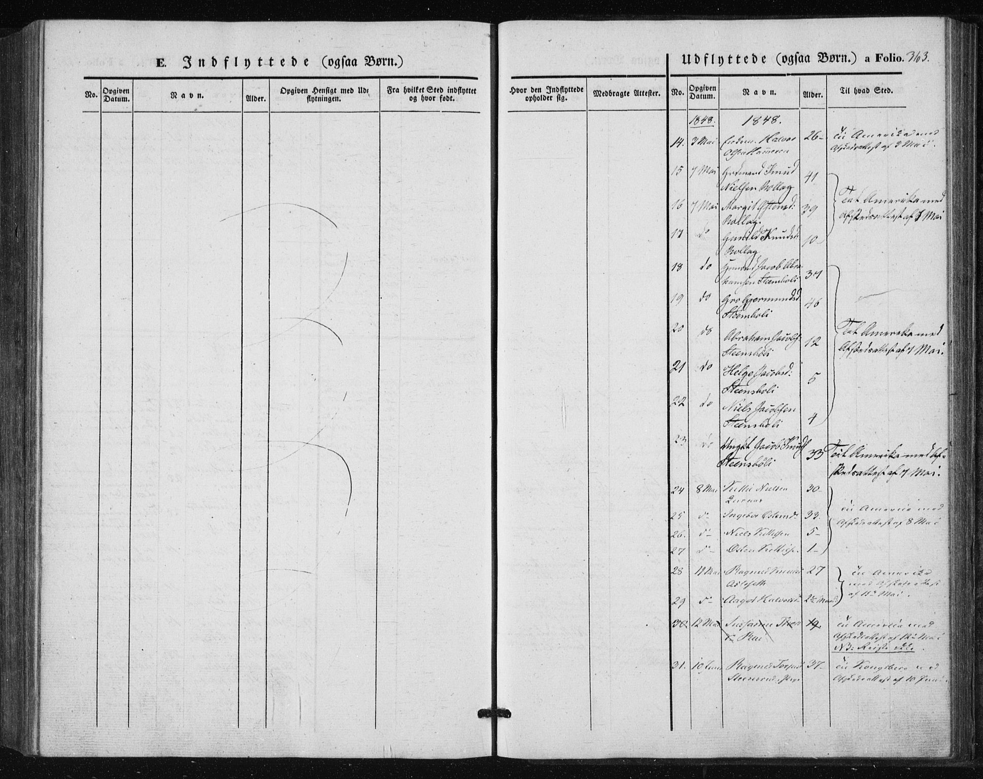 SAKO, Tinn kirkebøker, F/Fa/L0005: Ministerialbok nr. I 5, 1844-1856, s. 363