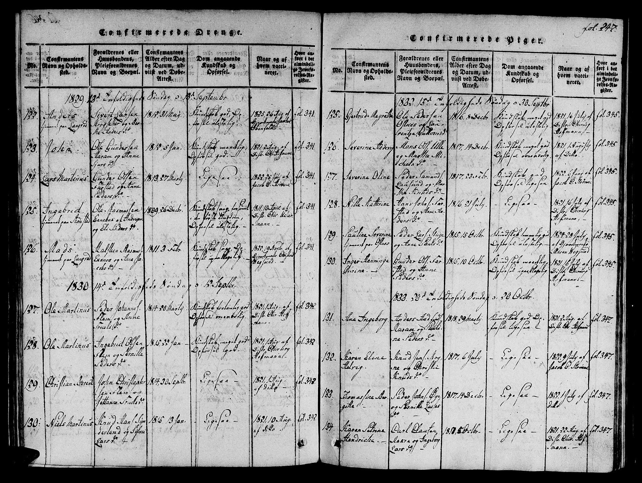 SAT, Ministerialprotokoller, klokkerbøker og fødselsregistre - Møre og Romsdal, 536/L0495: Ministerialbok nr. 536A04, 1818-1847, s. 247