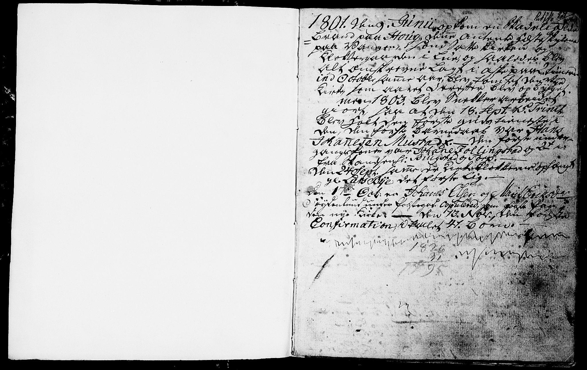 SAH, Vardal prestekontor, H/Ha/Hab/L0003: Klokkerbok nr. 3, 1803-1808, s. 0-1