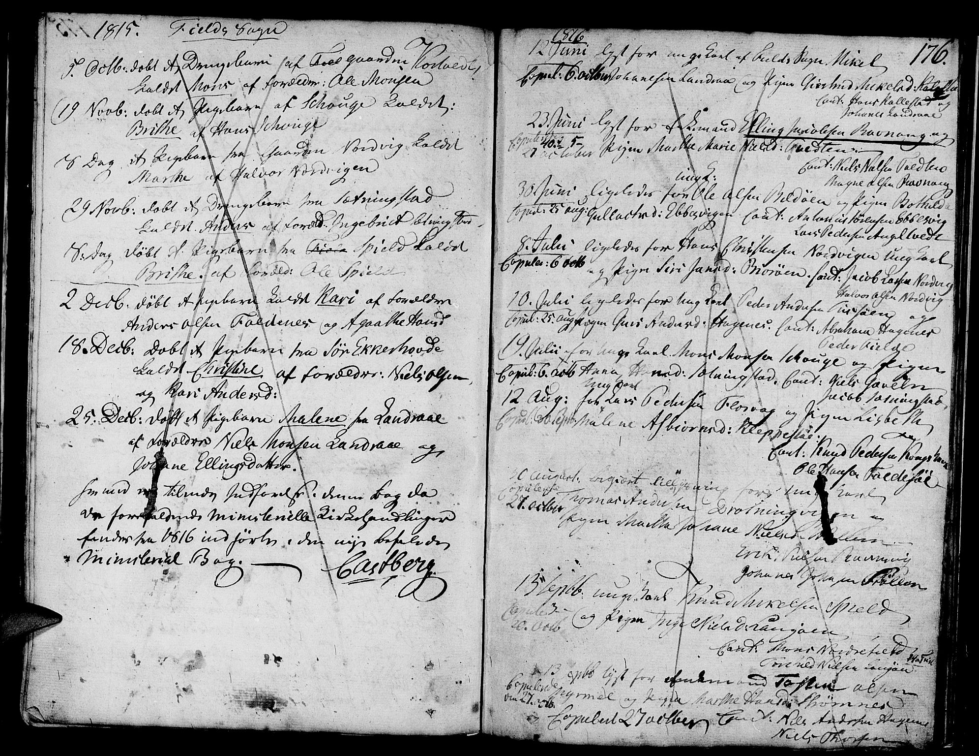 SAB, Askøy Sokneprestembete, H: Ministerialbok nr. A 2, 1801-1818, s. 176