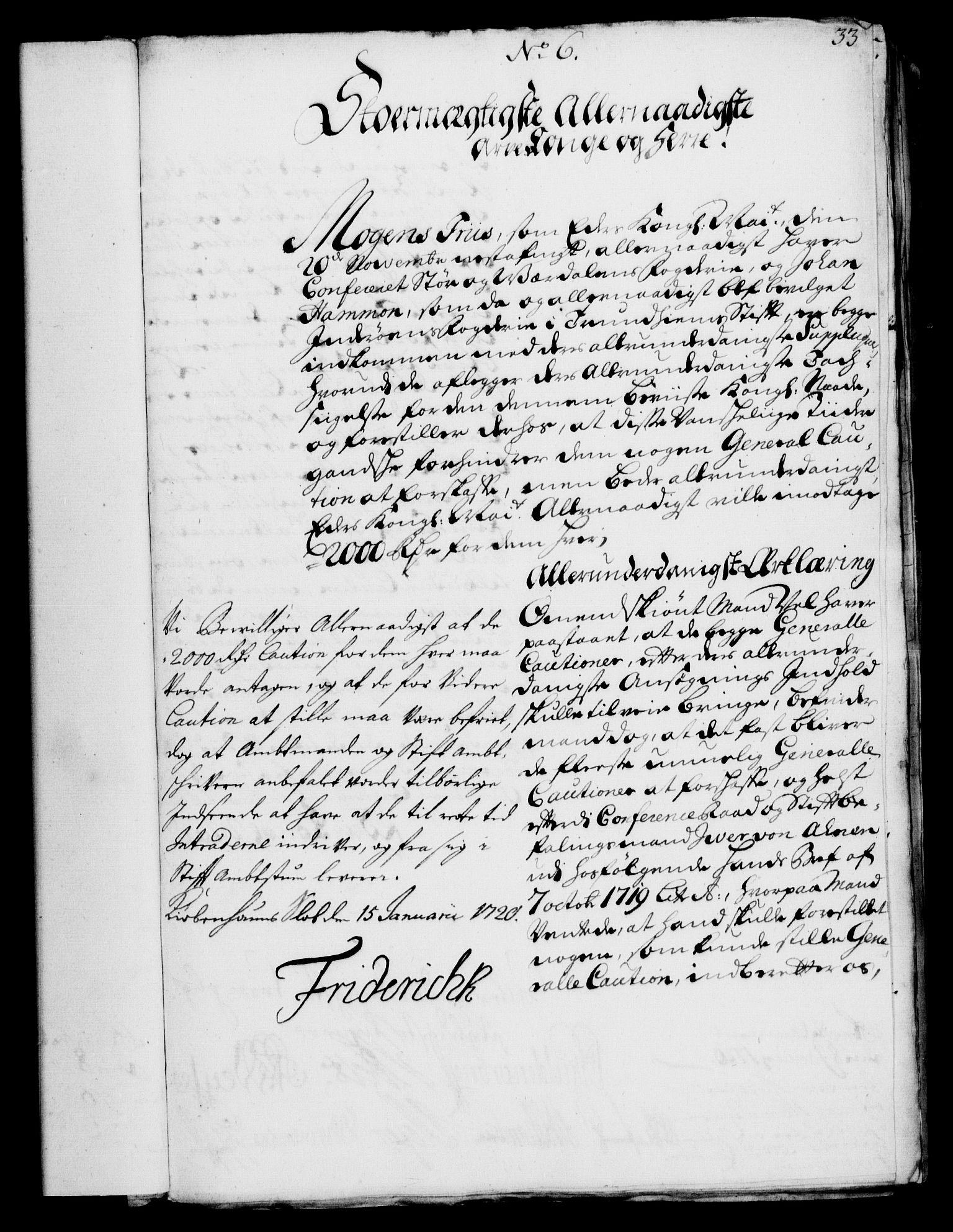 RA, Rentekammeret, Kammerkanselliet, G/Gf/Gfa/L0002: Norsk relasjons- og resolusjonsprotokoll (merket RK 52.2), 1720, s. 32