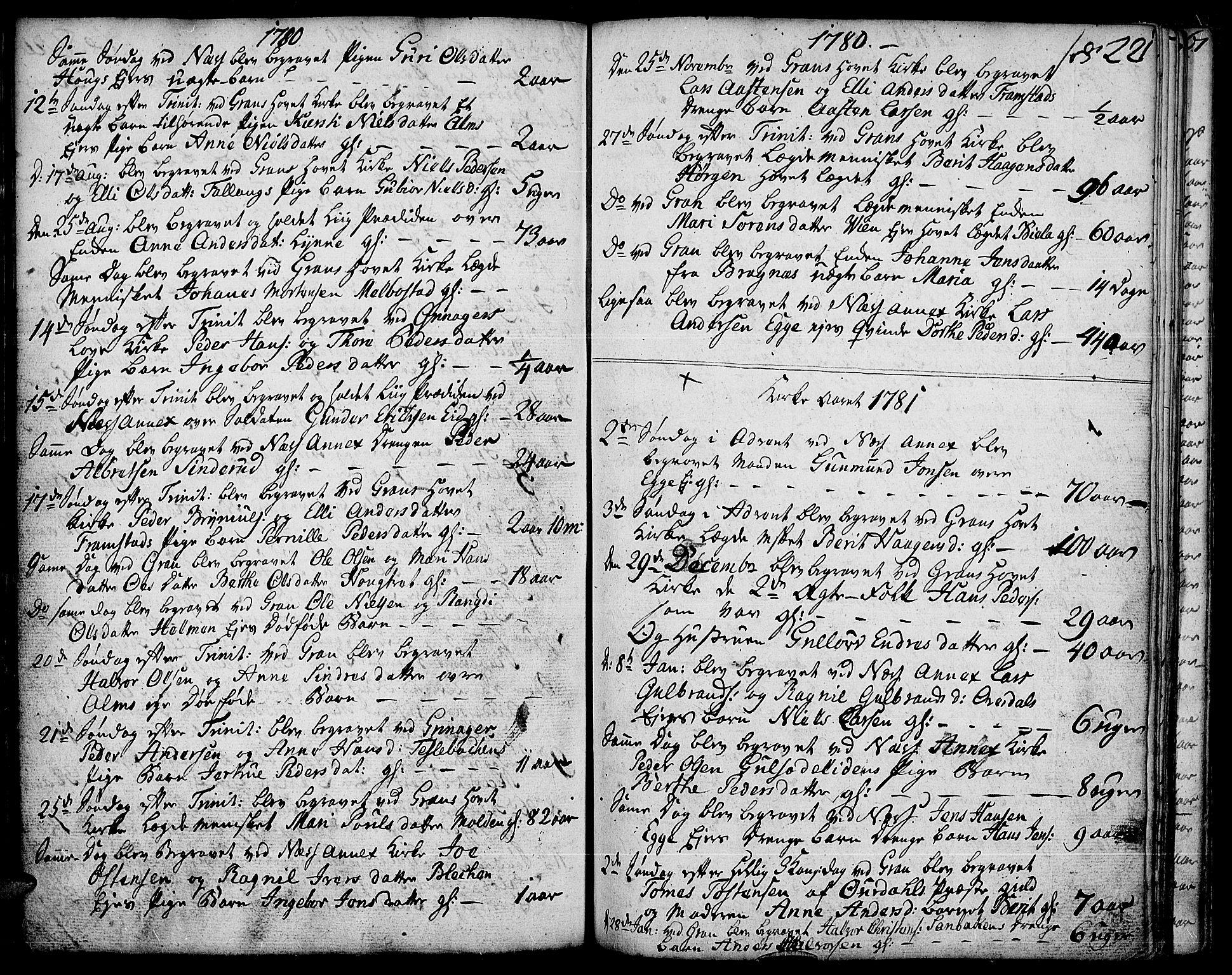 SAH, Gran prestekontor, Ministerialbok nr. 5, 1776-1788, s. 221