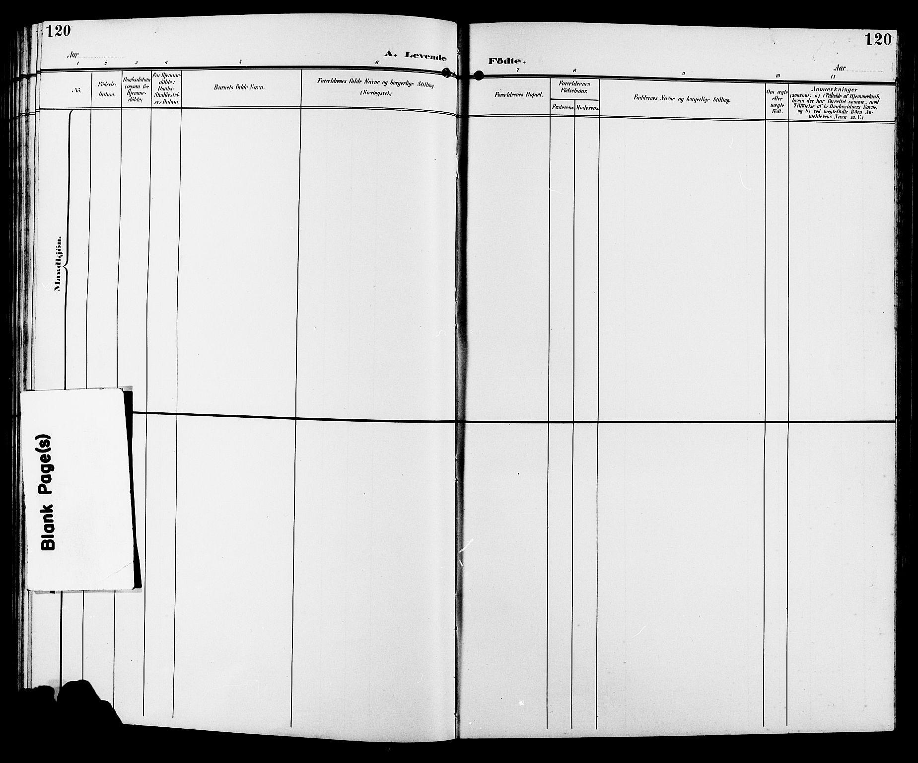SAH, Sør-Fron prestekontor, H/Ha/Hab/L0004: Klokkerbok nr. 4, 1896-1911, s. 120