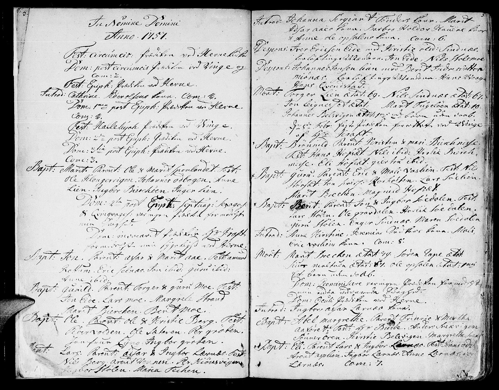 SAT, Ministerialprotokoller, klokkerbøker og fødselsregistre - Sør-Trøndelag, 630/L0489: Ministerialbok nr. 630A02, 1757-1794, s. 4-5