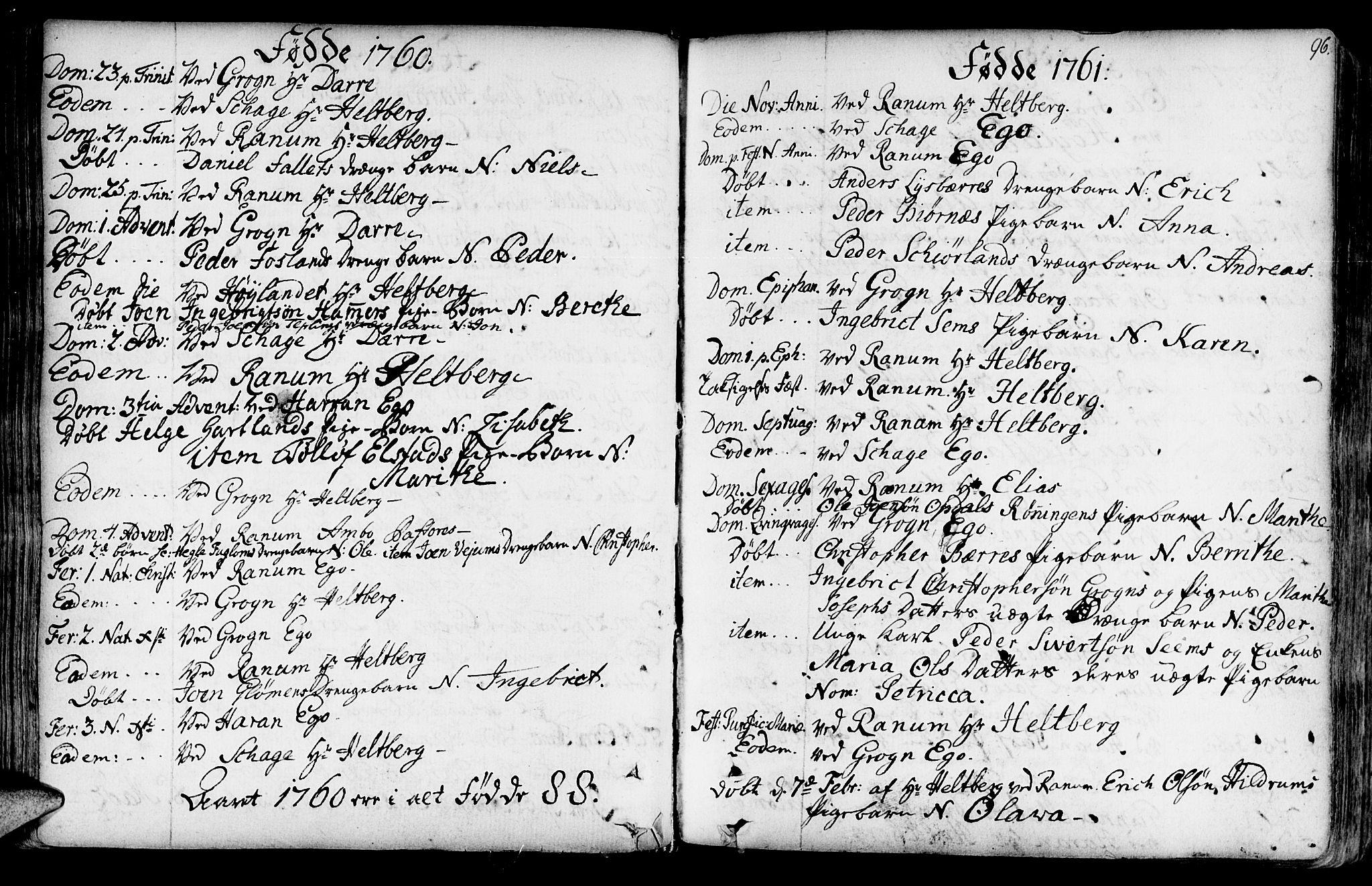 SAT, Ministerialprotokoller, klokkerbøker og fødselsregistre - Nord-Trøndelag, 764/L0542: Ministerialbok nr. 764A02, 1748-1779, s. 96