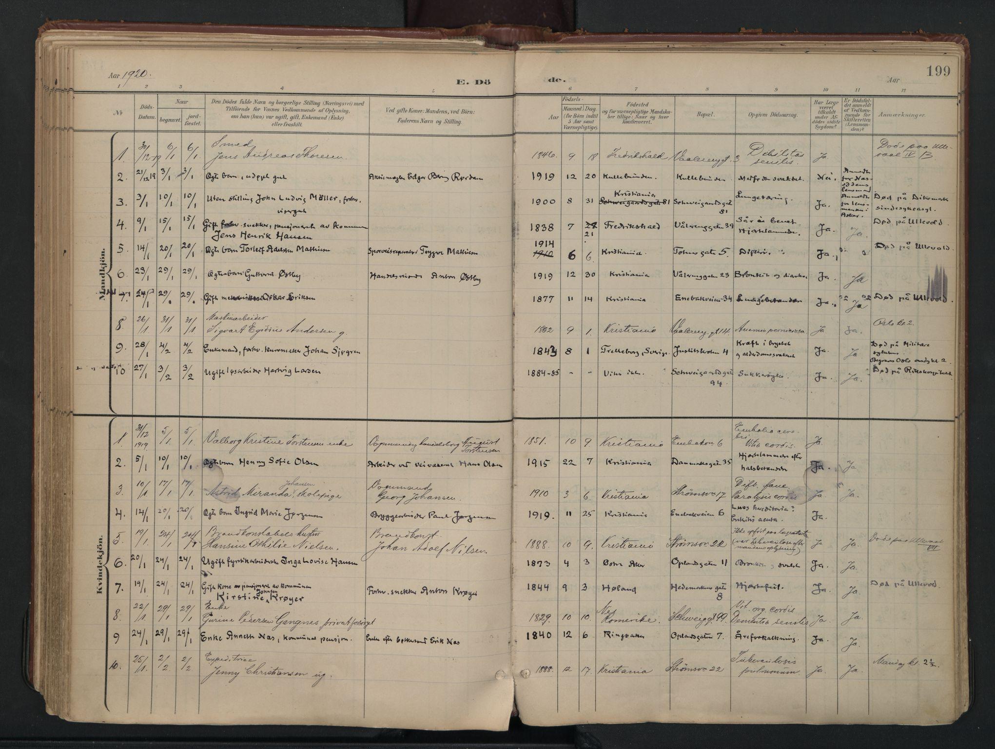 SAO, Vålerengen prestekontor Kirkebøker, F/Fa/L0003: Ministerialbok nr. 3, 1899-1930, s. 199