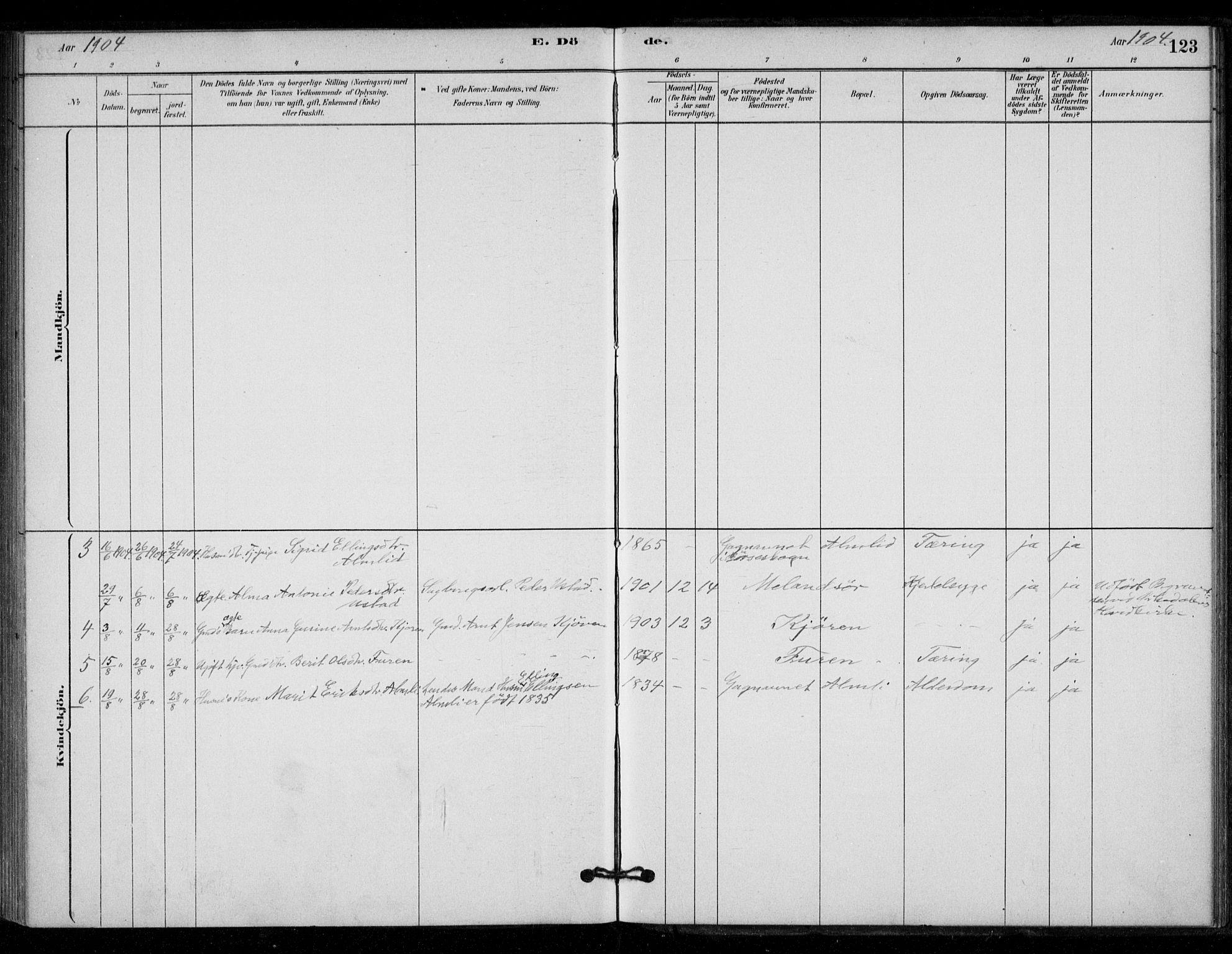SAT, Ministerialprotokoller, klokkerbøker og fødselsregistre - Sør-Trøndelag, 670/L0836: Ministerialbok nr. 670A01, 1879-1904, s. 123