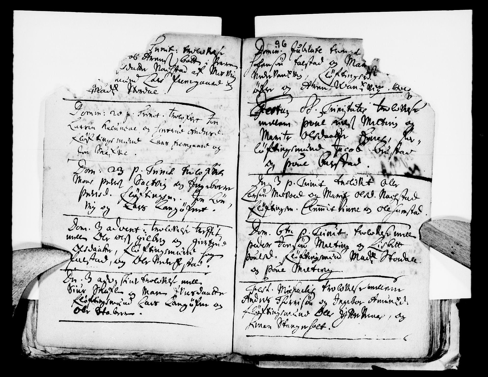 SAT, Ministerialprotokoller, klokkerbøker og fødselsregistre - Nord-Trøndelag, 722/L0214: Ministerialbok nr. 722A01, 1692-1718, s. 96