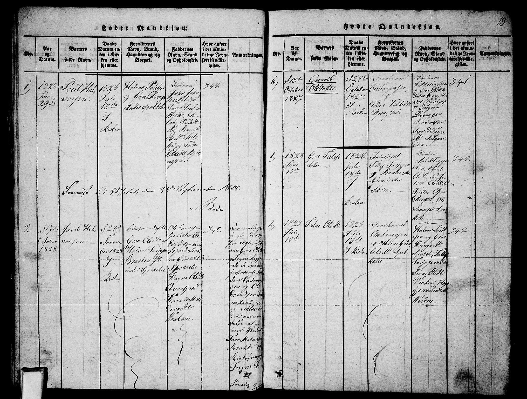 SAKO, Fyresdal kirkebøker, G/Ga/L0003: Klokkerbok nr. I 3, 1815-1863, s. 13
