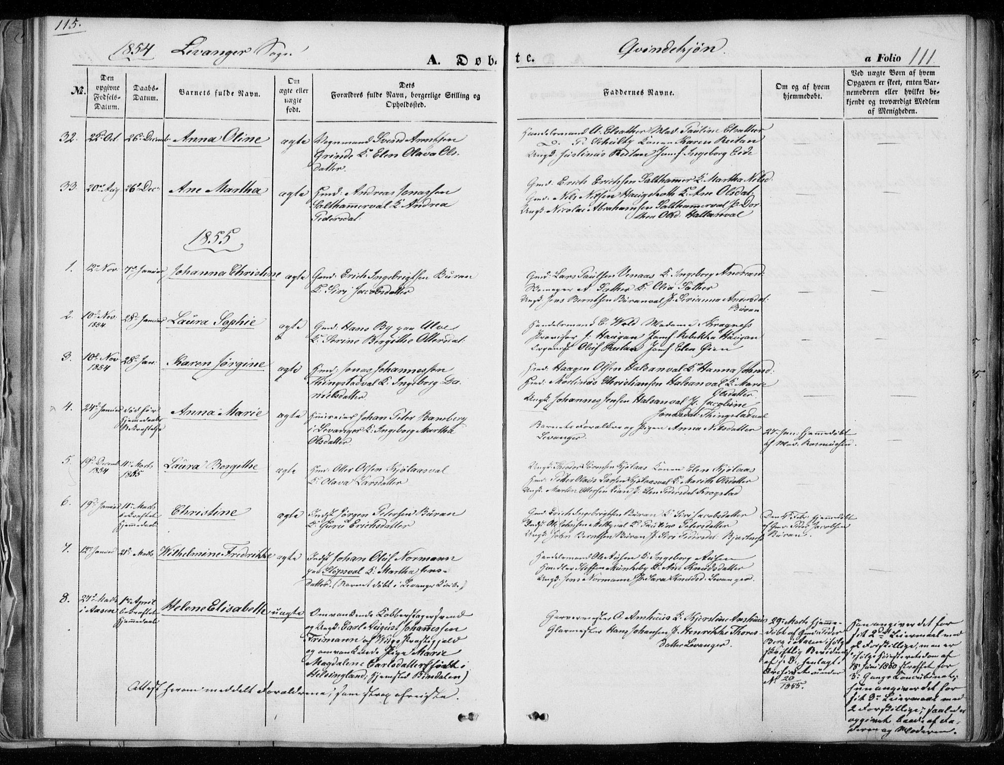 SAT, Ministerialprotokoller, klokkerbøker og fødselsregistre - Nord-Trøndelag, 720/L0183: Ministerialbok nr. 720A01, 1836-1855, s. 111