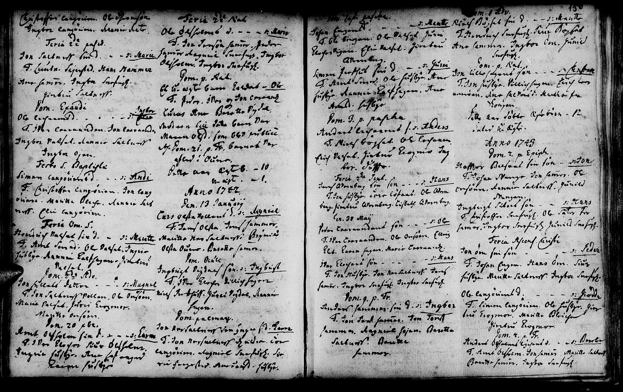 SAT, Ministerialprotokoller, klokkerbøker og fødselsregistre - Sør-Trøndelag, 666/L0783: Ministerialbok nr. 666A01, 1702-1753, s. 150