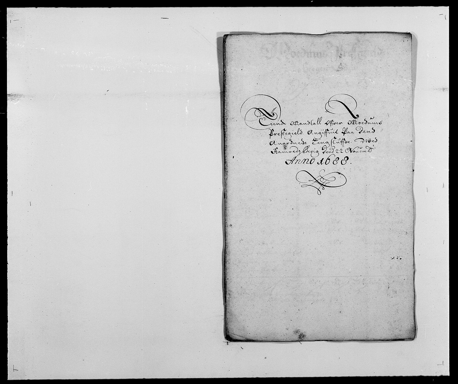 RA, Rentekammeret inntil 1814, Reviderte regnskaper, Fogderegnskap, R25/L1679: Fogderegnskap Buskerud, 1687-1688, s. 264