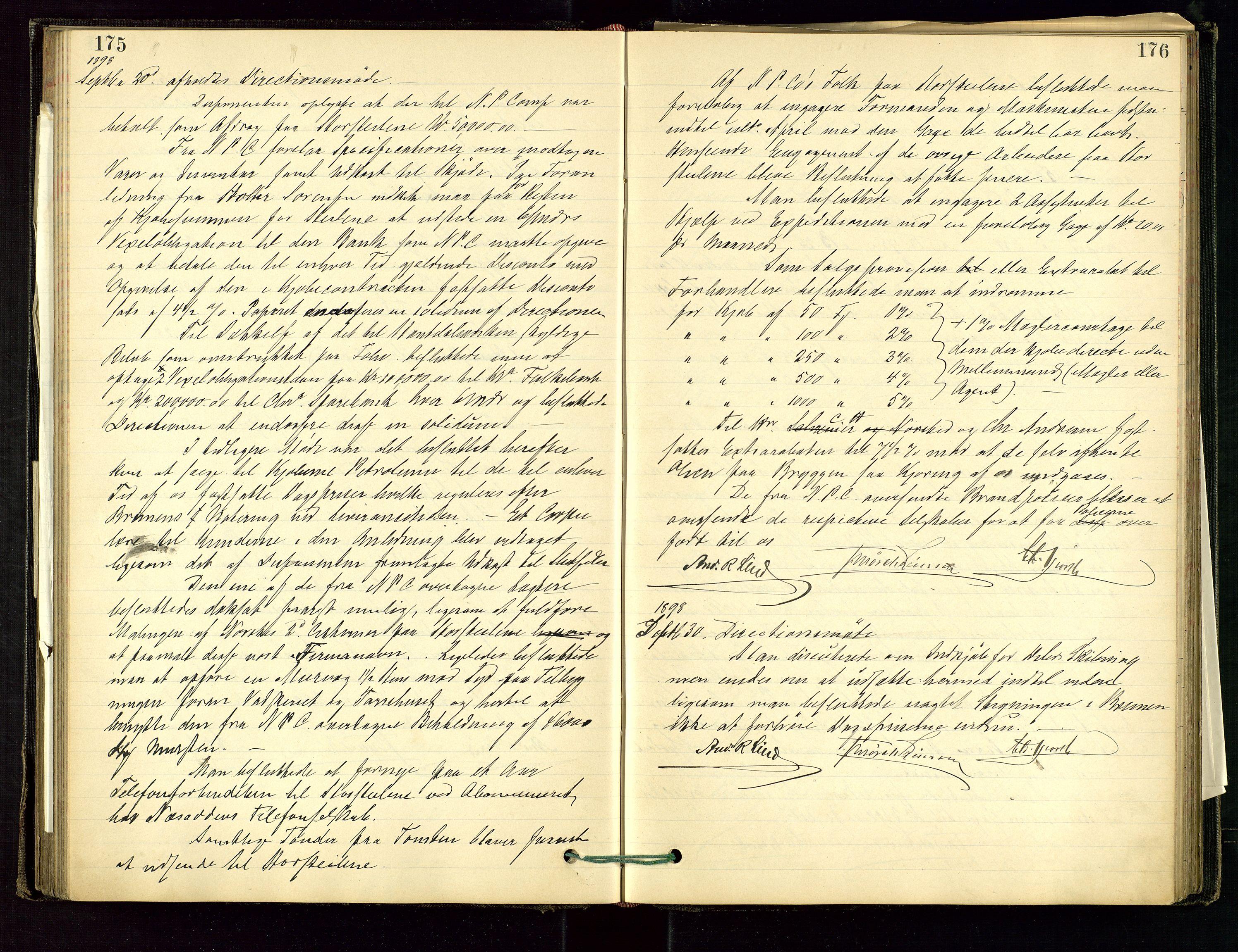 SAST, PA 1534 - Østlandske Petroleumscompagni A/S, A/Aa/L0001: Generalforsamlinger og direksjonsprotokoller., 1892-1905, s. 175-176