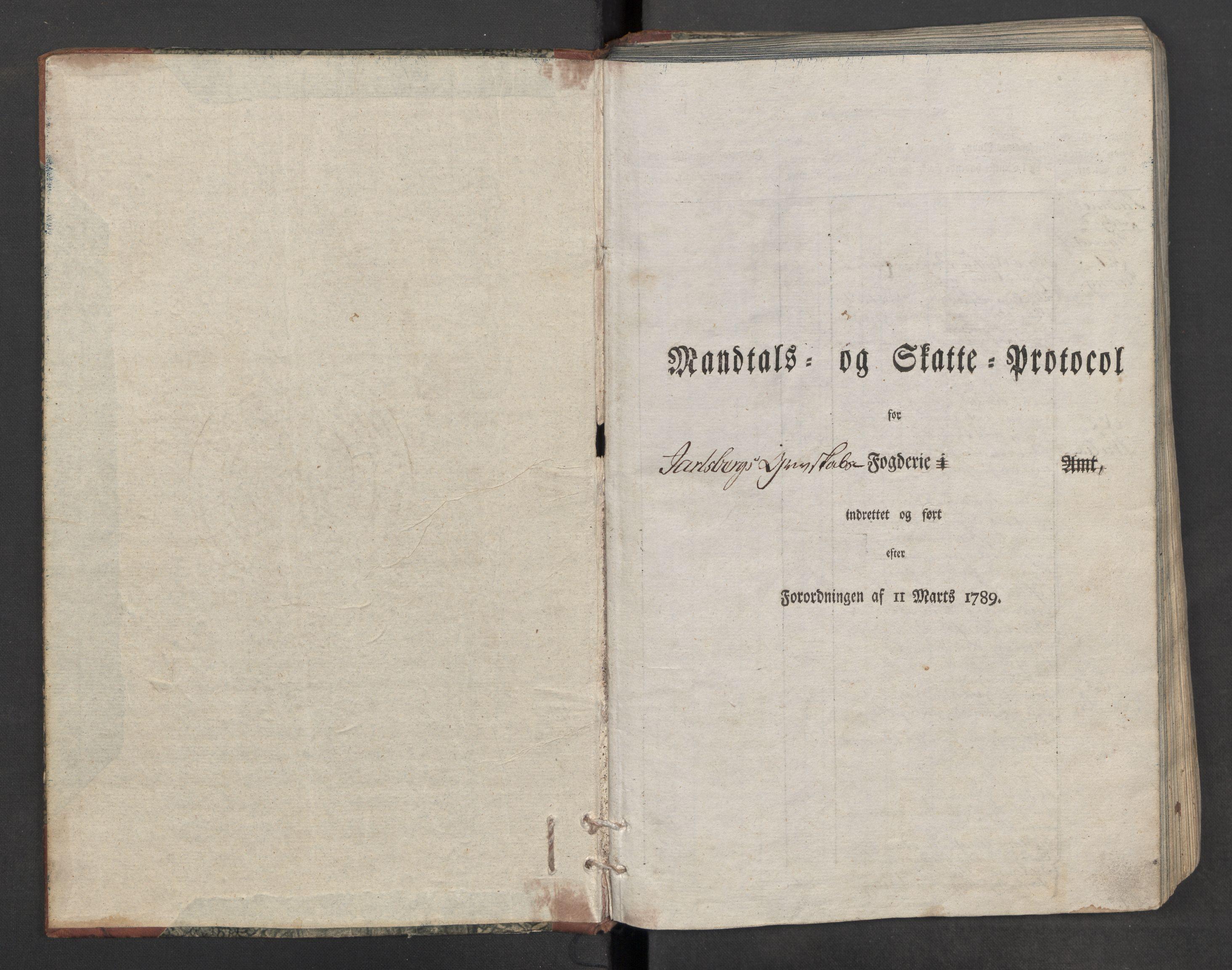 RA, Rentekammeret inntil 1814, Reviderte regnskaper, Mindre regnskaper, Rf/Rfe/L0018: Jarlsberg grevskap, Jæren og Dalane fogderi, 1789, s. 3