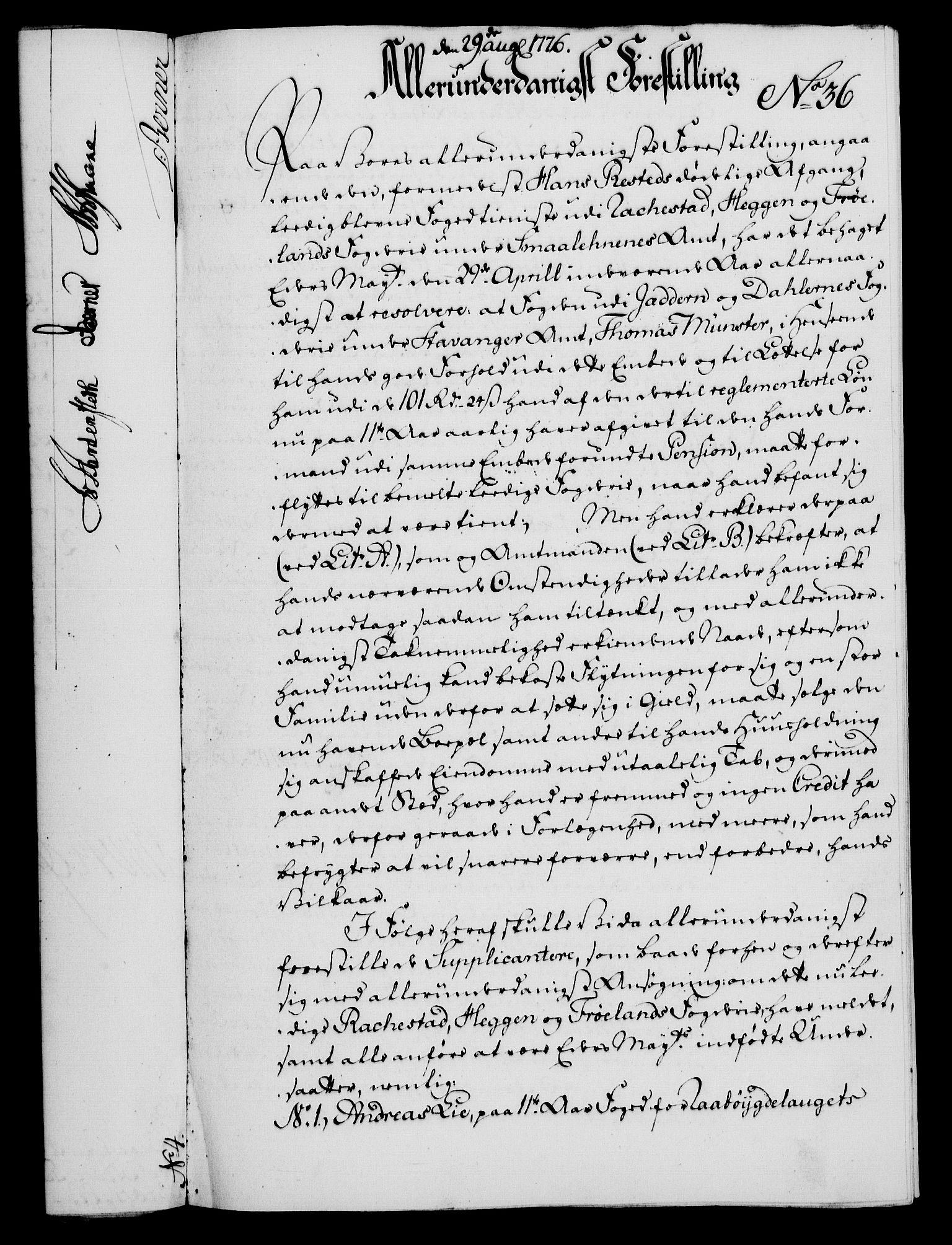 RA, Rentekammeret, Kammerkanselliet, G/Gf/Gfa/L0058: Norsk relasjons- og resolusjonsprotokoll (merket RK 52.58), 1776, s. 149