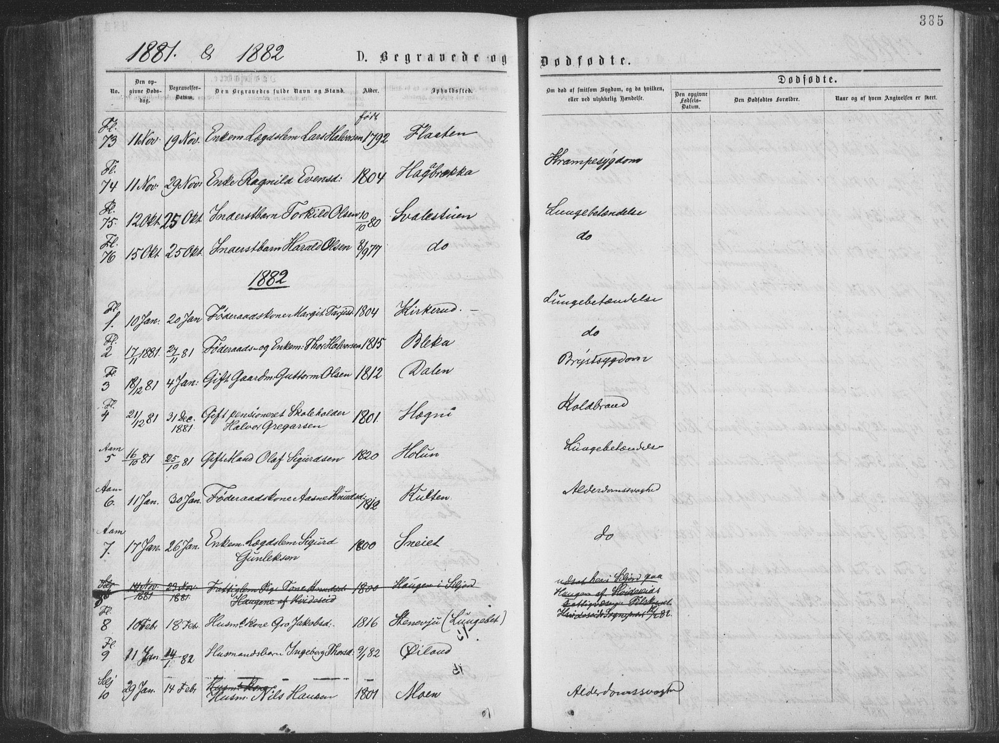 SAKO, Seljord kirkebøker, F/Fa/L0014: Ministerialbok nr. I 14, 1877-1886, s. 385
