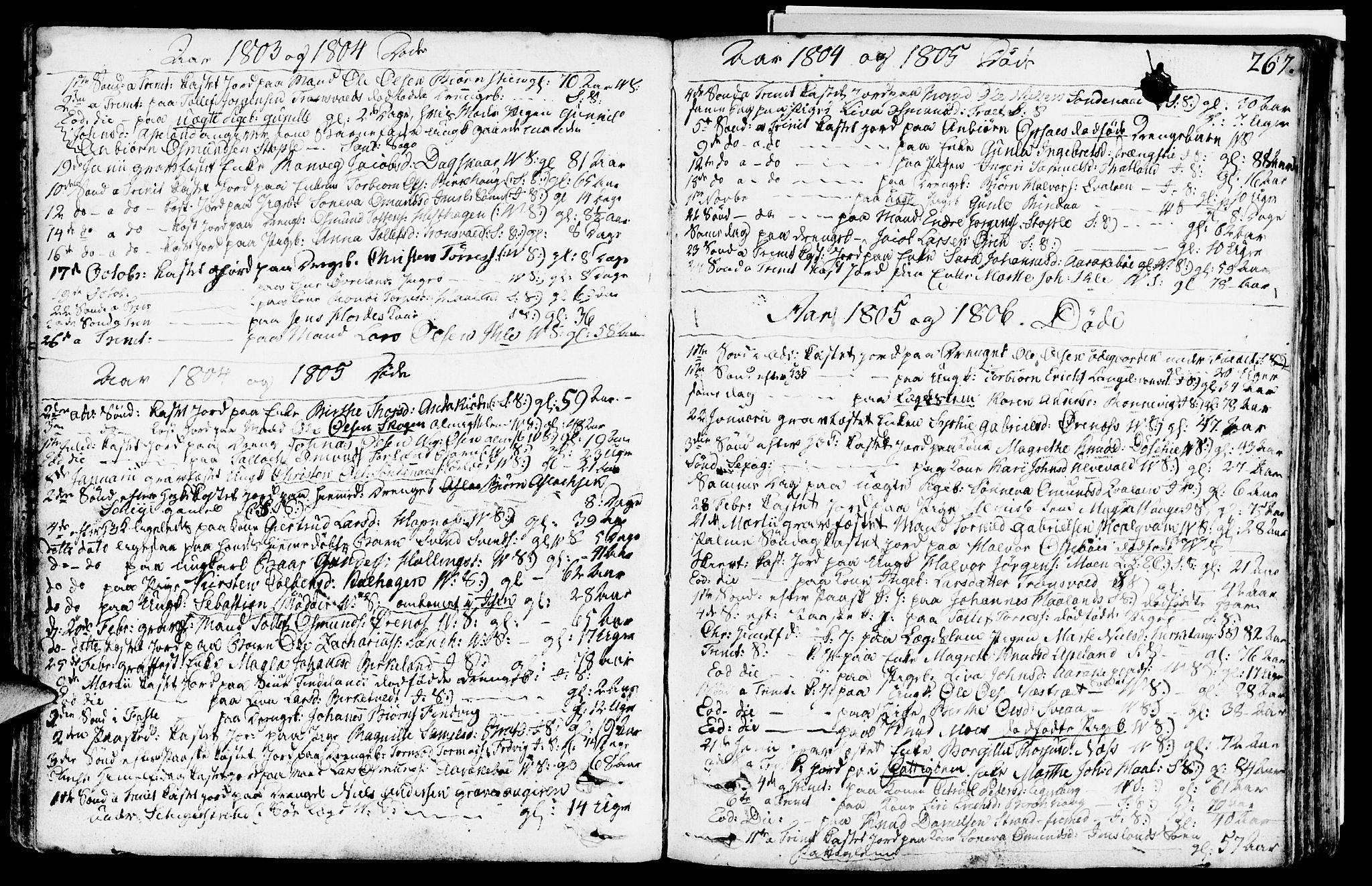 SAST, Vikedal sokneprestkontor, IV: Ministerialbok nr. A 2, 1779-1817, s. 267