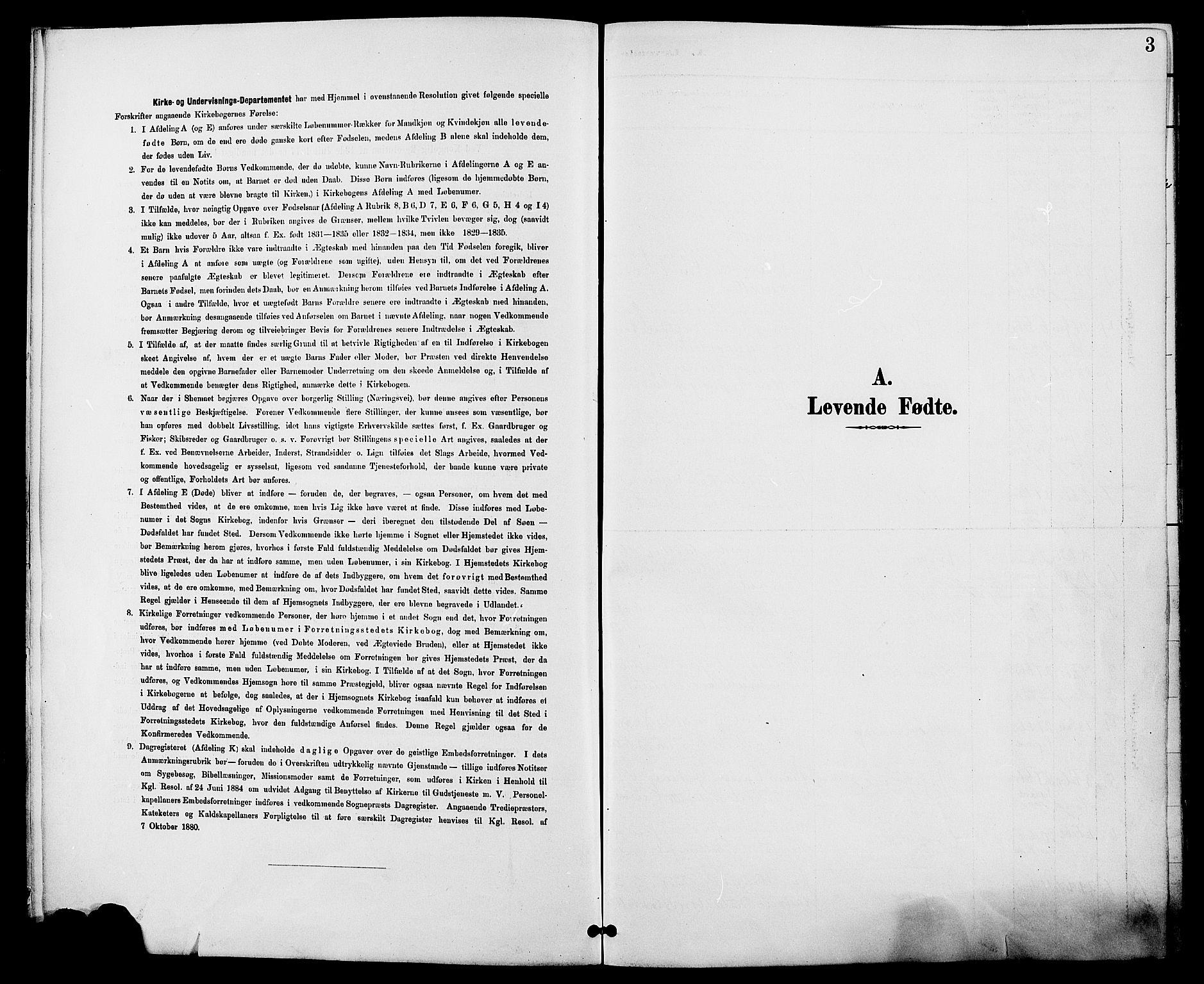 SAH, Biri prestekontor, Ministerialbok nr. 7, 1887-1893, s. 3
