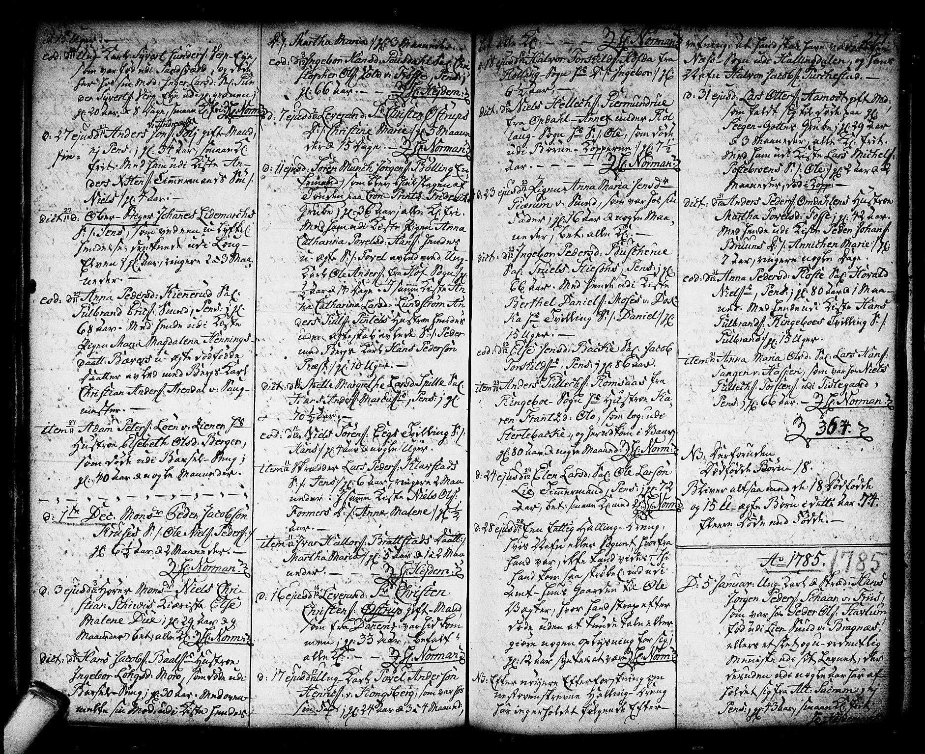 SAKO, Kongsberg kirkebøker, F/Fa/L0006: Ministerialbok nr. I 6, 1783-1797, s. 277