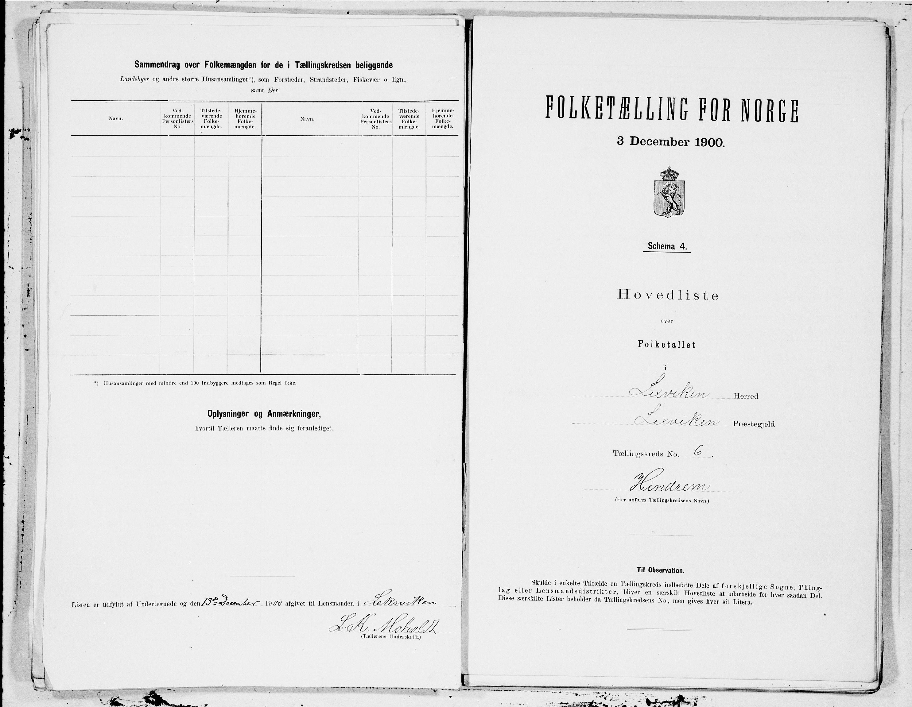 SAT, Folketelling 1900 for 1718 Leksvik herred, 1900, s. 14