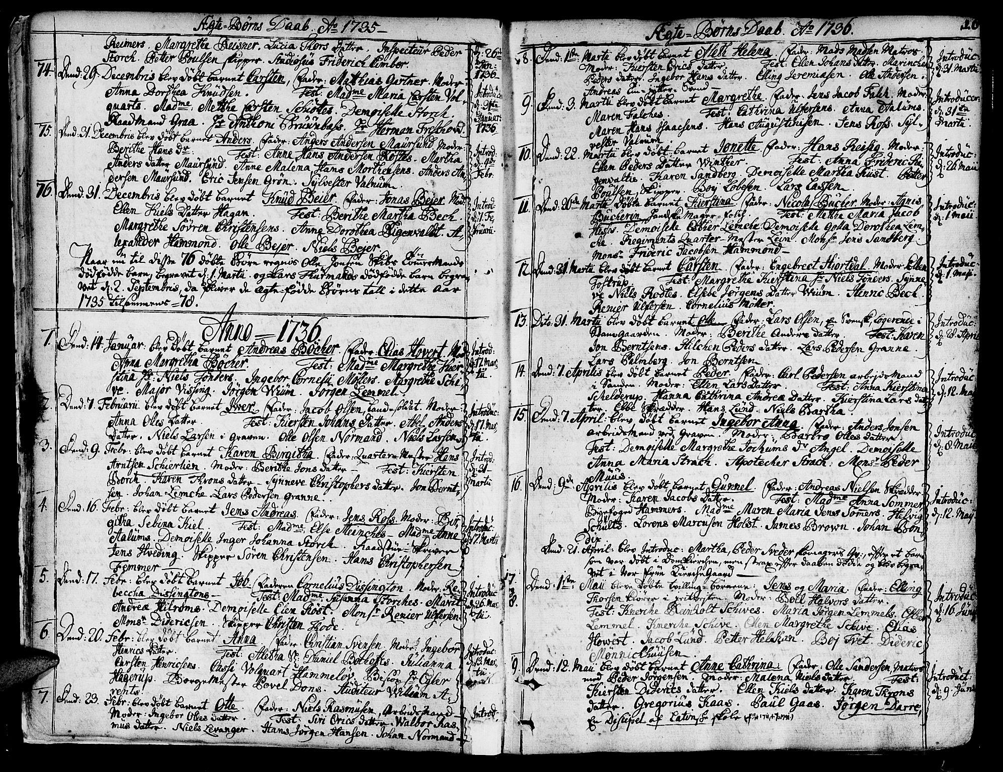 SAT, Ministerialprotokoller, klokkerbøker og fødselsregistre - Sør-Trøndelag, 602/L0103: Ministerialbok nr. 602A01, 1732-1774, s. 16