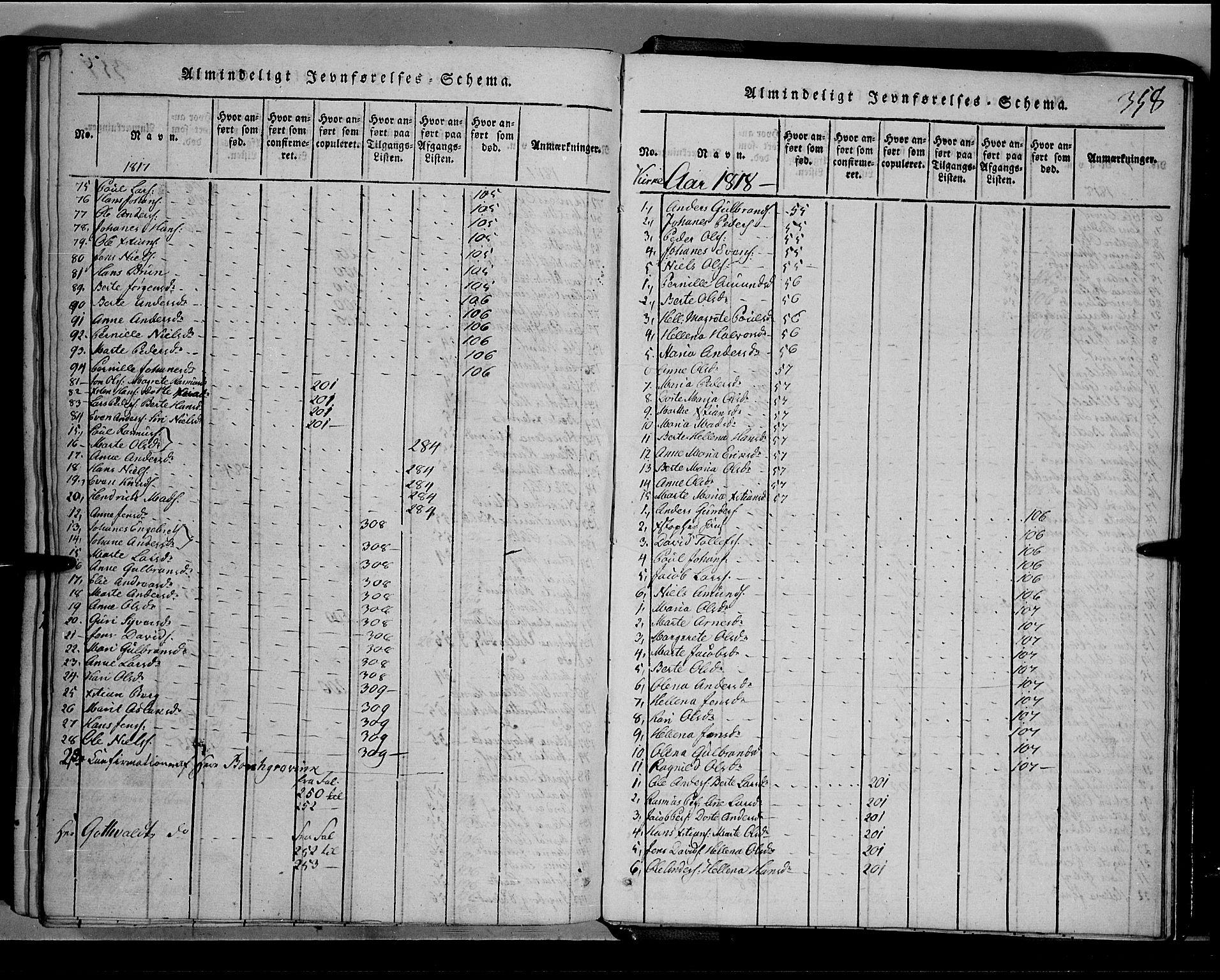 SAH, Toten prestekontor, Klokkerbok nr. 1, 1814-1820, s. 358