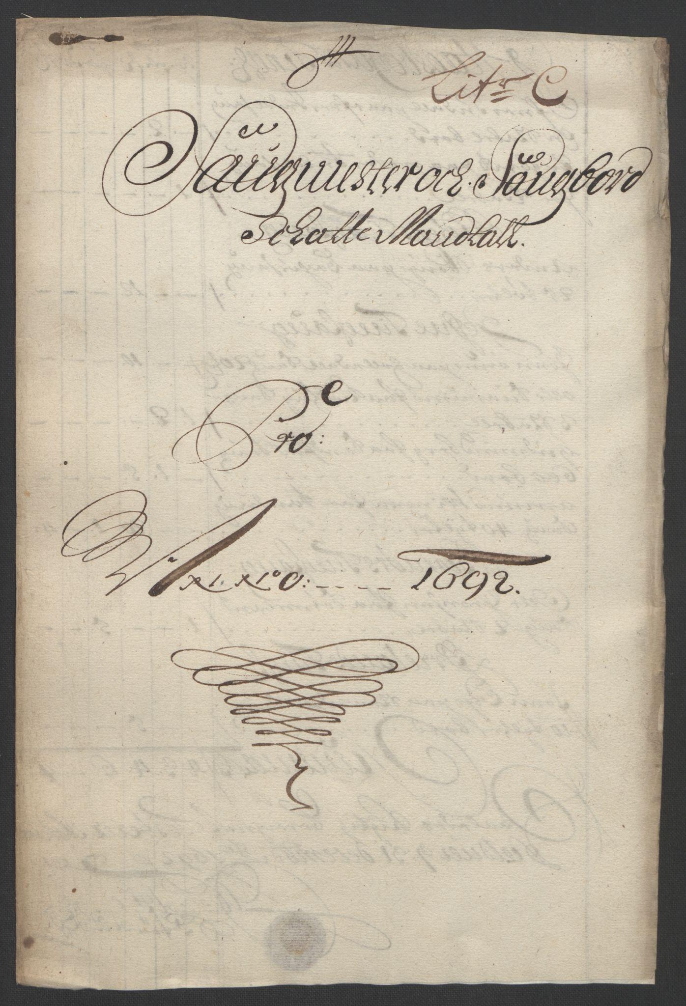 RA, Rentekammeret inntil 1814, Reviderte regnskaper, Fogderegnskap, R57/L3849: Fogderegnskap Fosen, 1692-1693, s. 80