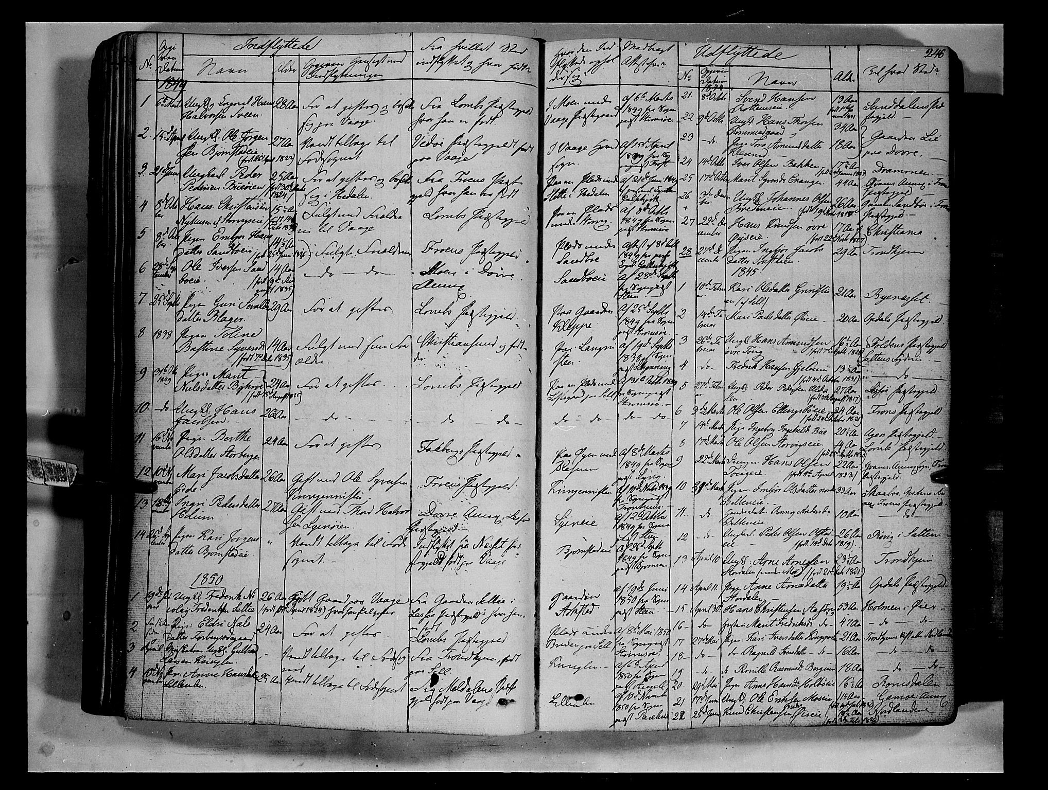 SAH, Vågå prestekontor, Ministerialbok nr. 5 /1, 1842-1856, s. 246