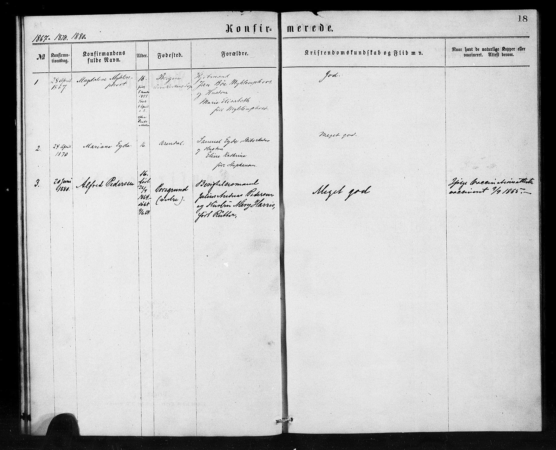 SAB, Den Norske Sjømannsmisjon i utlandet*, Ministerialbok nr. A 1, 1865-1880, s. 18