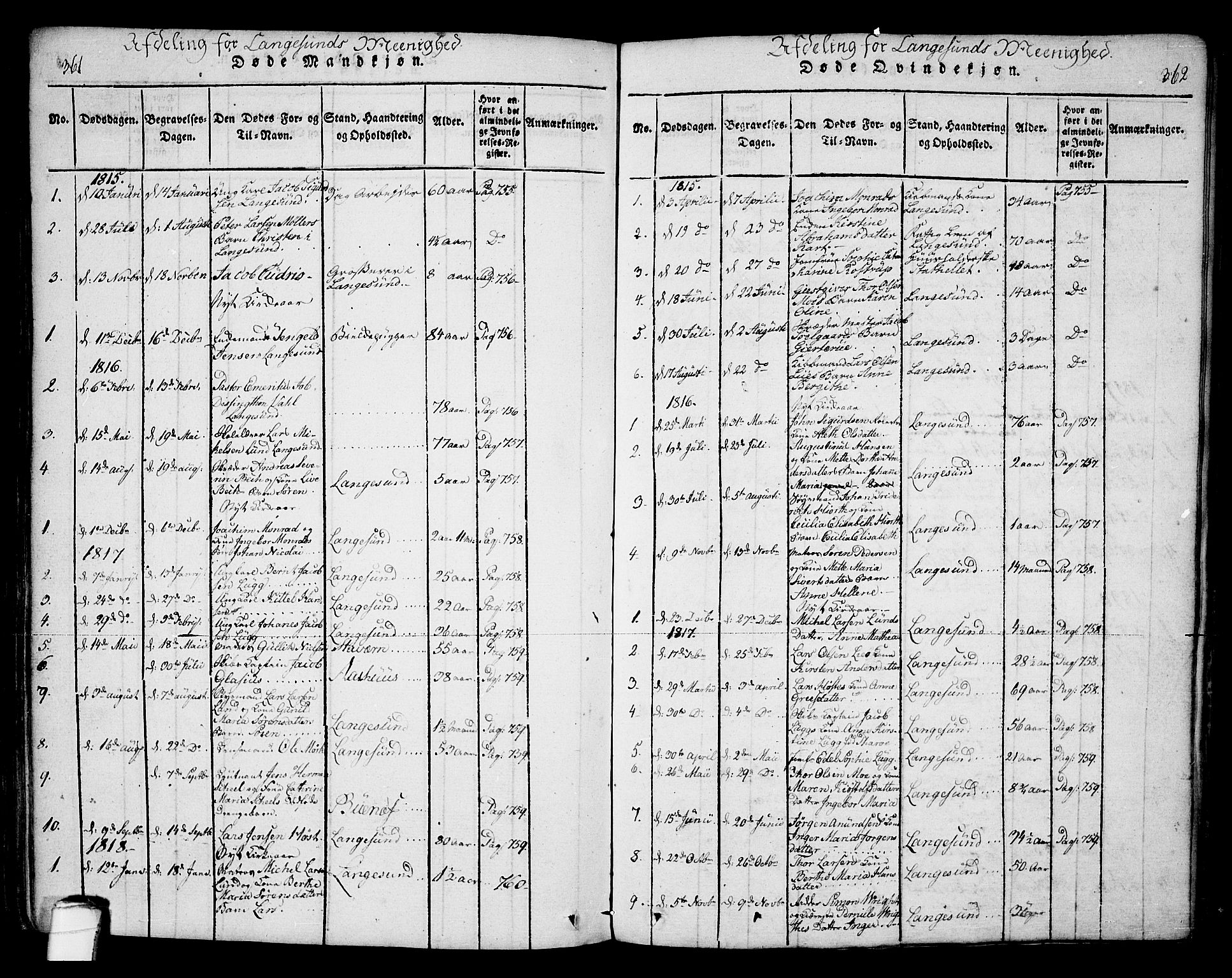 SAKO, Bamble kirkebøker, F/Fa/L0003: Ministerialbok nr. I 3 /2, 1815-1834, s. 361-362