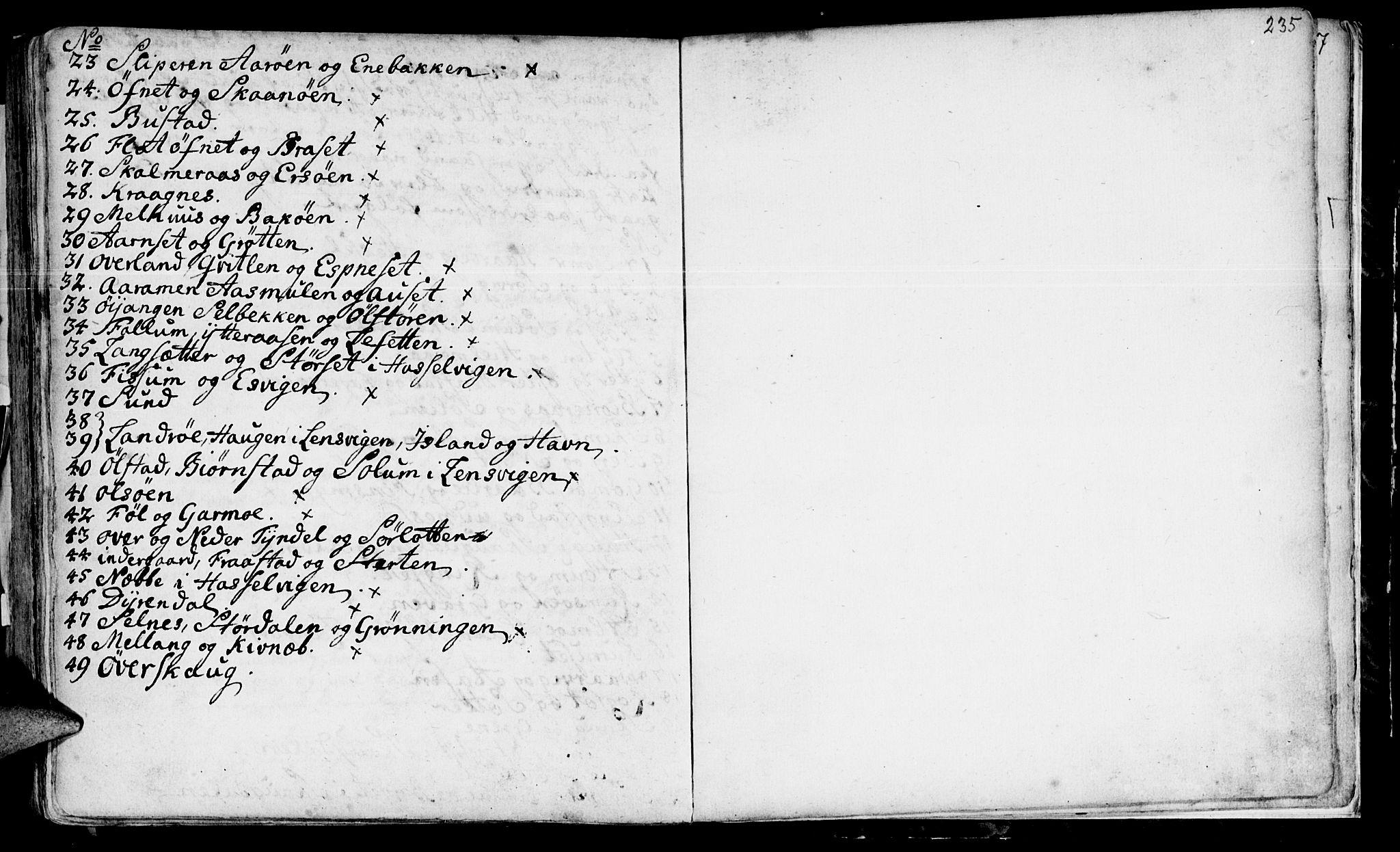SAT, Ministerialprotokoller, klokkerbøker og fødselsregistre - Sør-Trøndelag, 646/L0604: Ministerialbok nr. 646A02, 1735-1750, s. 234-235