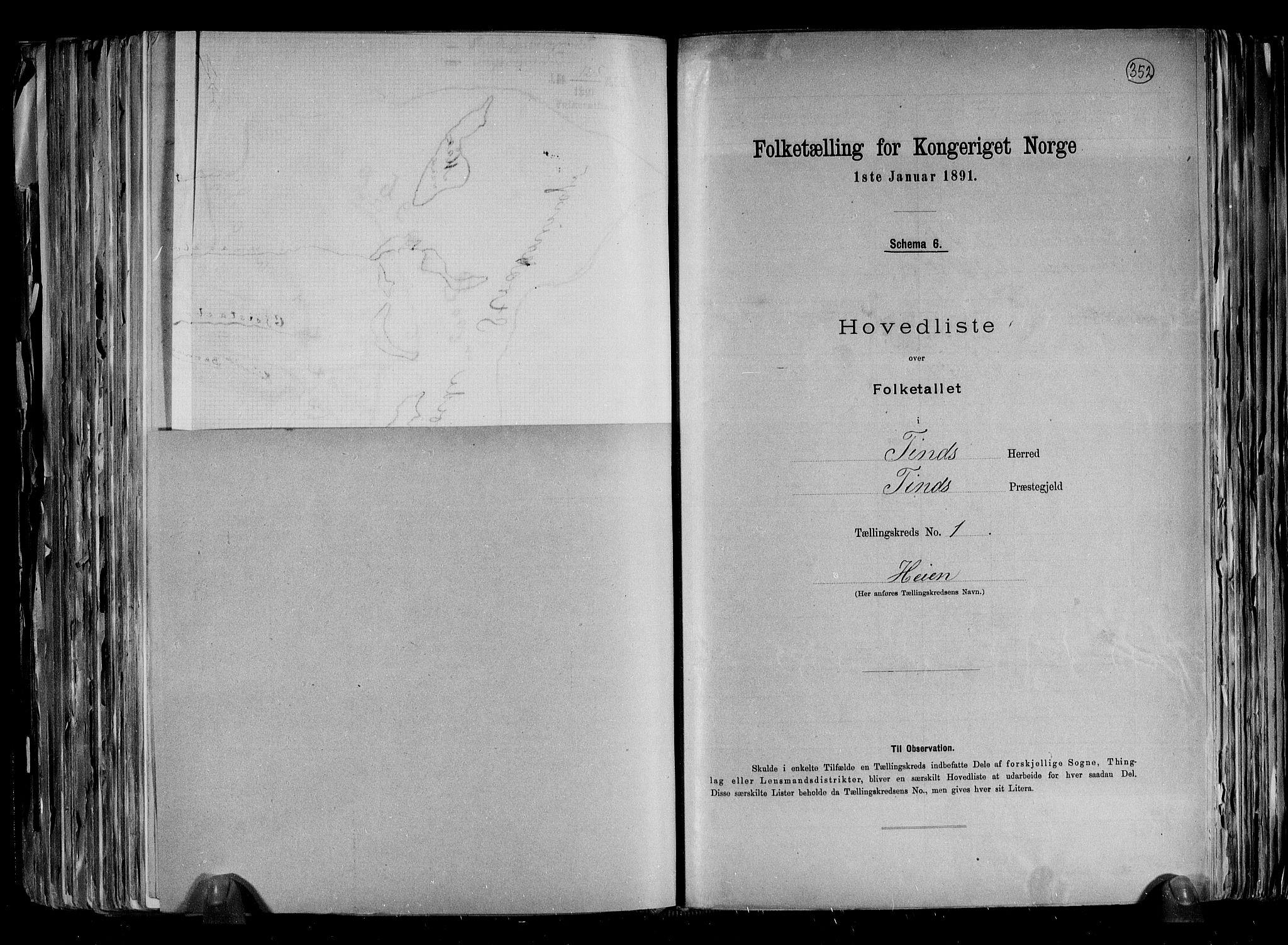 RA, Folketelling 1891 for 0826 Tinn herred, 1891, s. 6