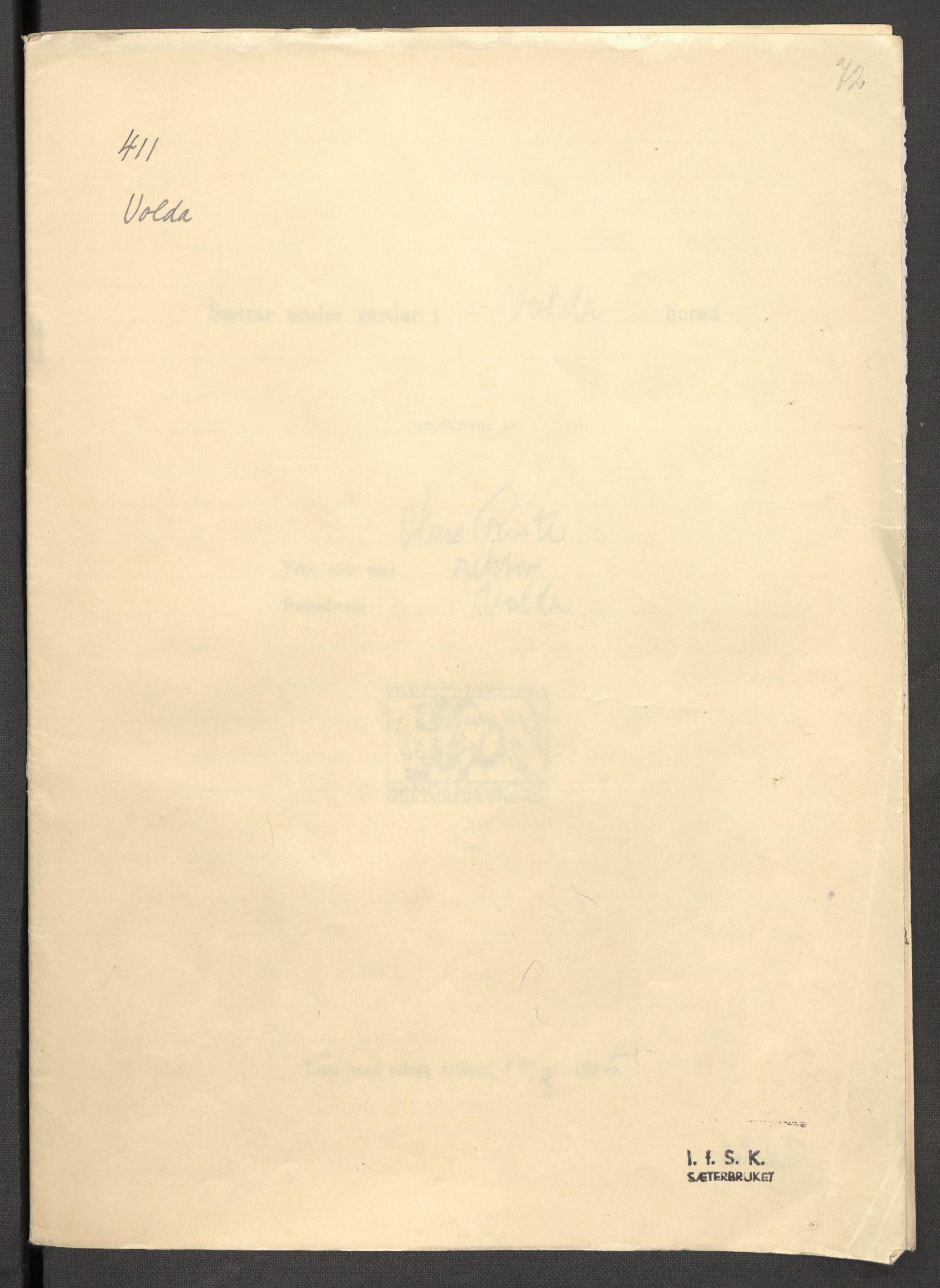 RA, Instituttet for sammenlignende kulturforskning, F/Fc/L0012: Eske B12:, 1934-1936, s. 72