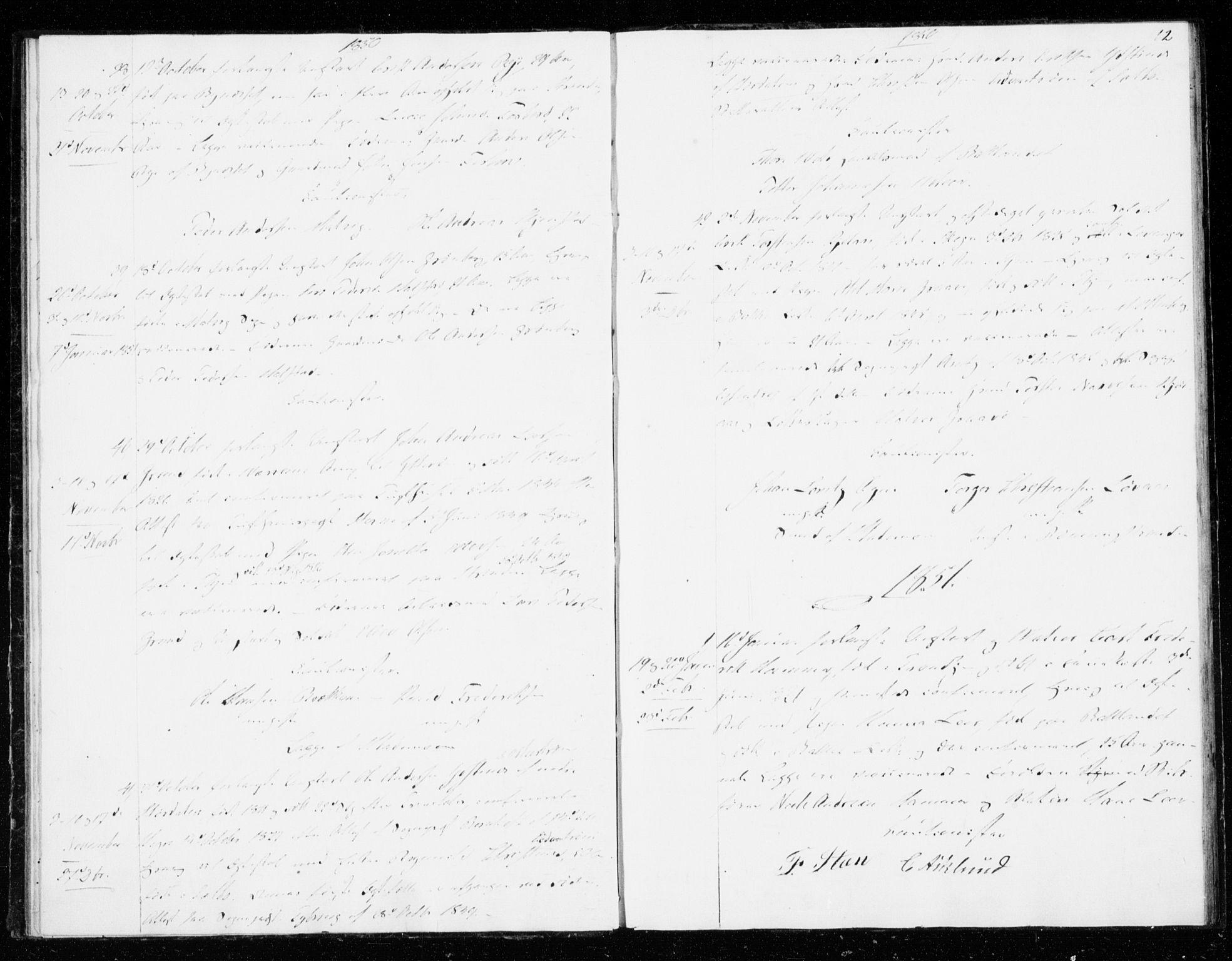 SAT, Ministerialprotokoller, klokkerbøker og fødselsregistre - Sør-Trøndelag, 606/L0296: Lysningsprotokoll nr. 606A11, 1849-1854, s. 12