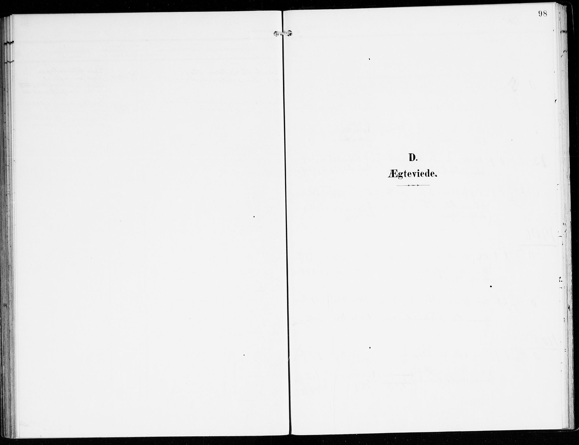SAB, Hyllestad Sokneprestembete, Ministerialbok nr. D 2, 1905-1919, s. 98