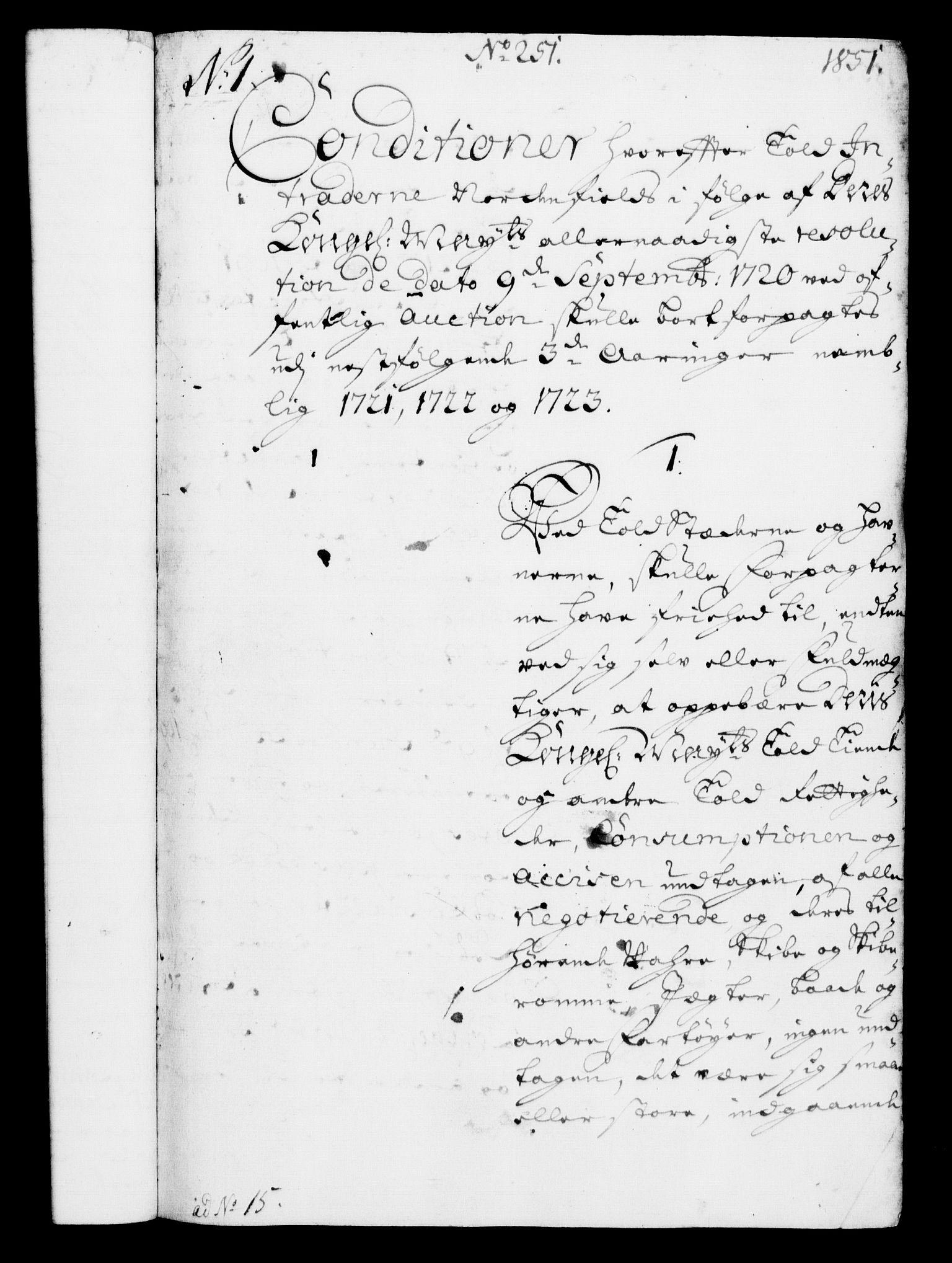 RA, Rentekammeret, Kammerkanselliet, G/Gf/Gfa/L0003: Norsk relasjons- og resolusjonsprotokoll (merket RK 52.3), 1720, s. 831