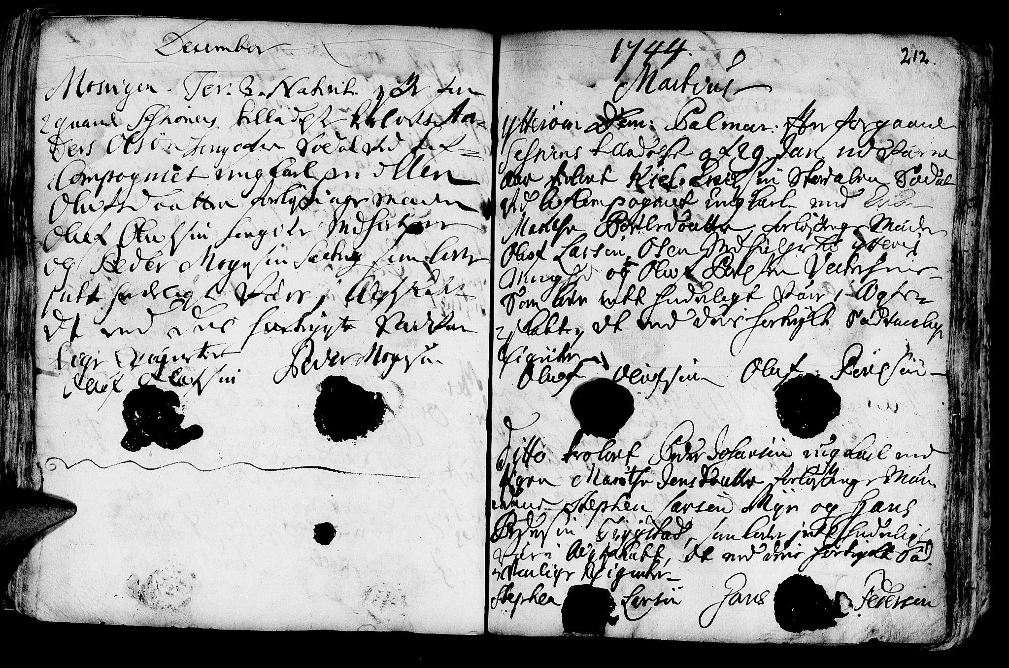 SAT, Ministerialprotokoller, klokkerbøker og fødselsregistre - Nord-Trøndelag, 722/L0215: Ministerialbok nr. 722A02, 1718-1755, s. 212
